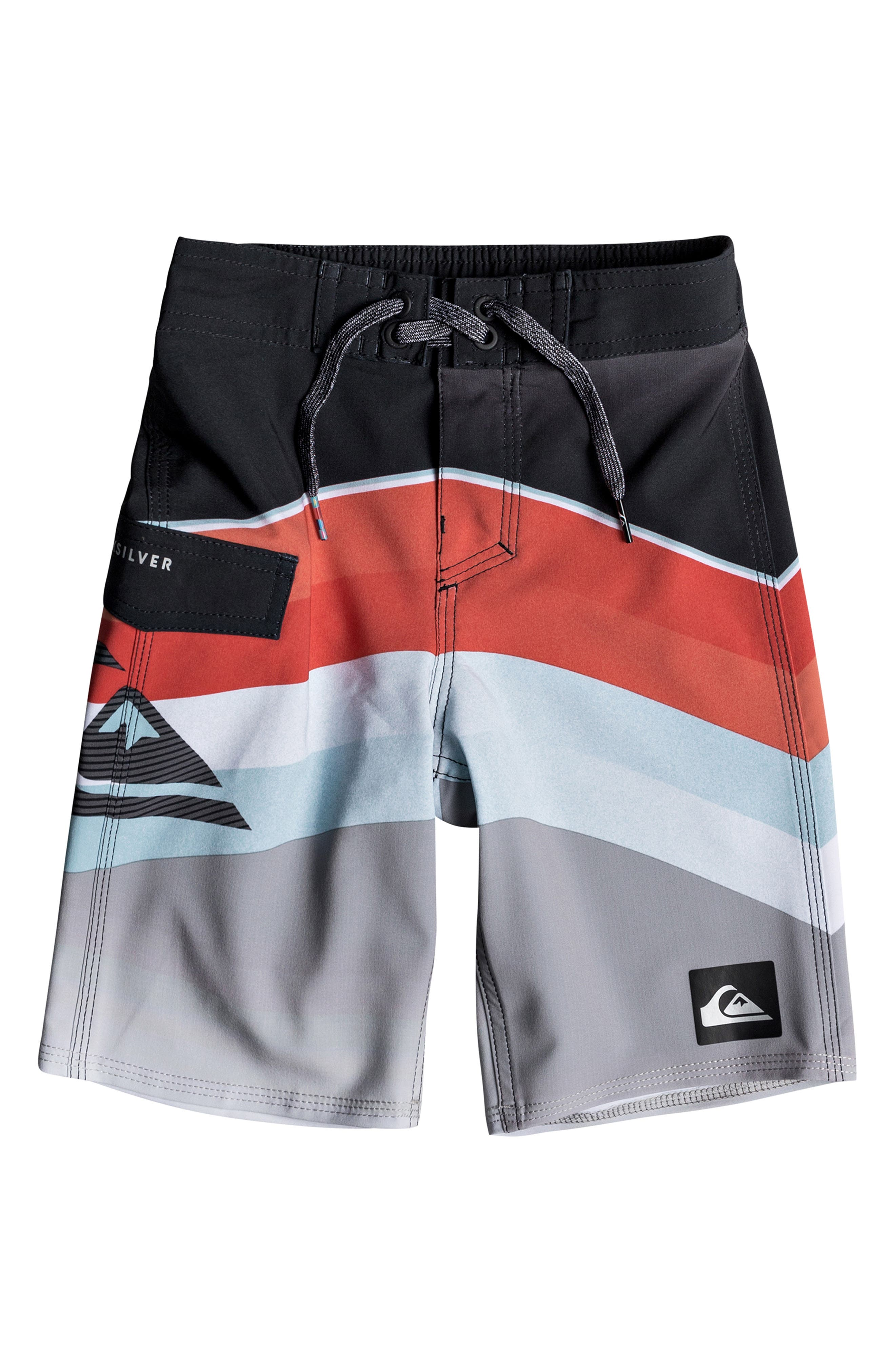 Highline Slab Print Board Shorts,                         Main,                         color, FLAME
