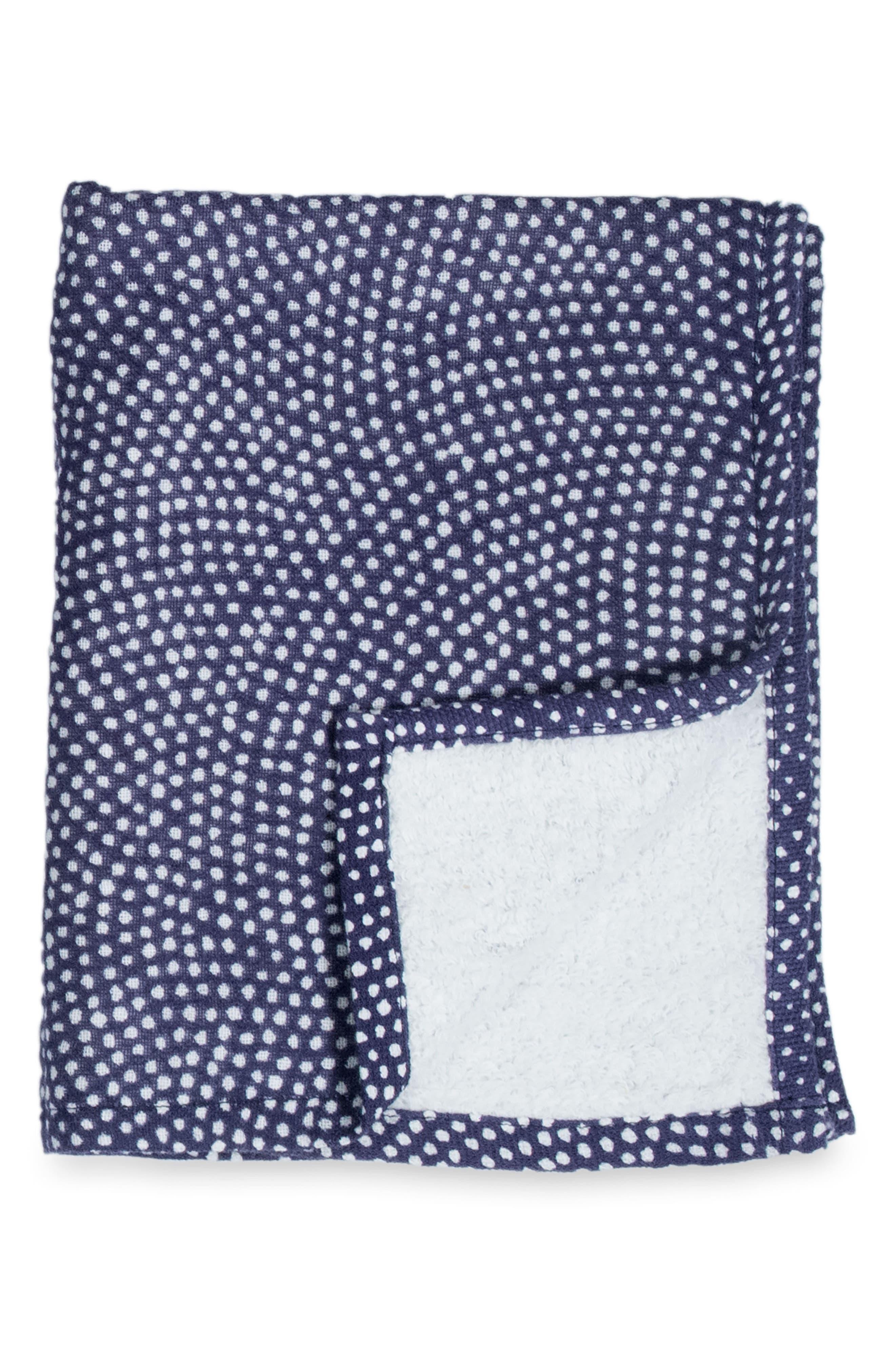 Zero Twist Print Hand & Hair Towel,                             Main thumbnail 1, color,                             DARK BLUE