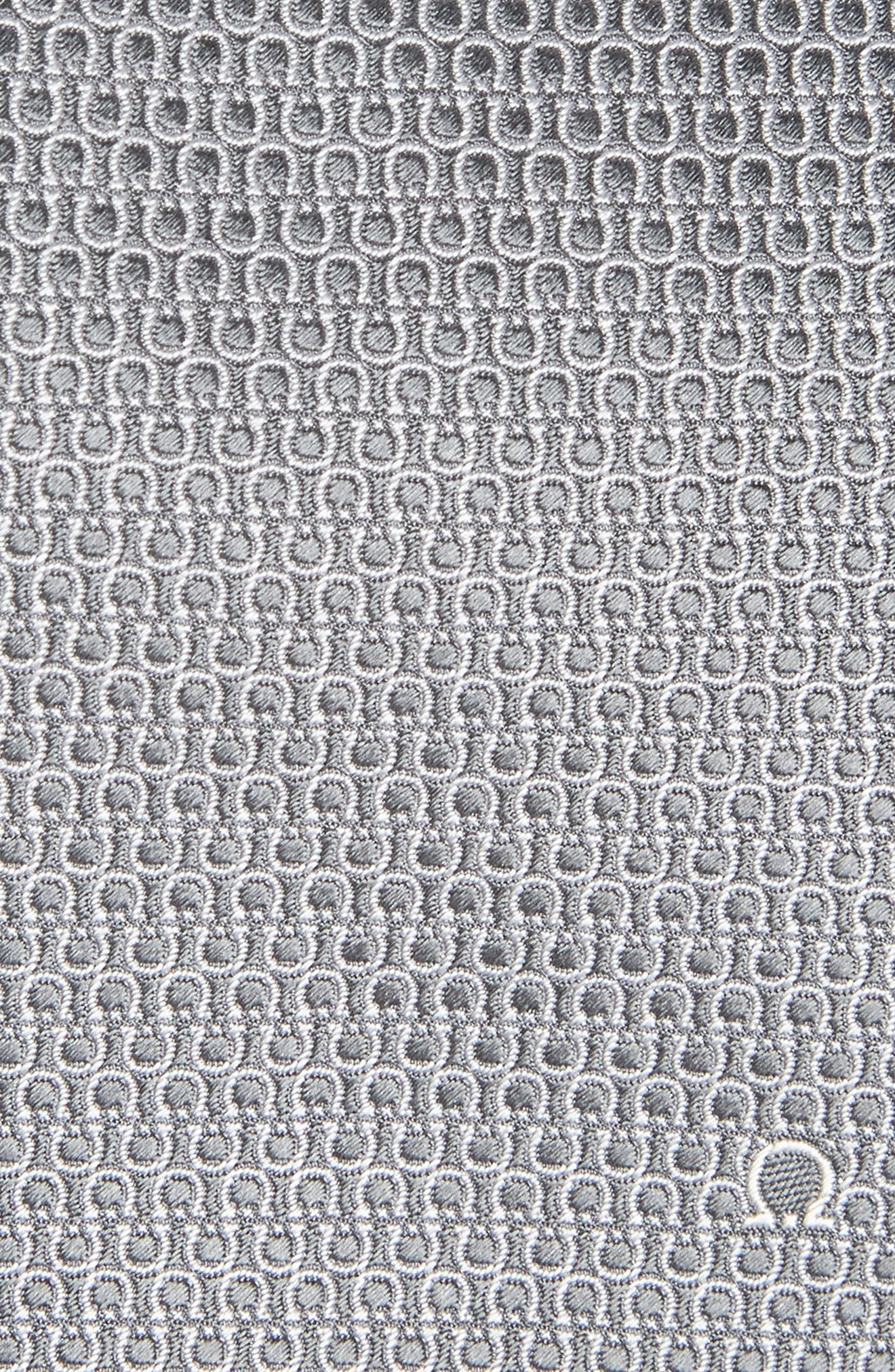 Esper Gancini Print Silk Tie,                             Alternate thumbnail 2, color,                             GREY