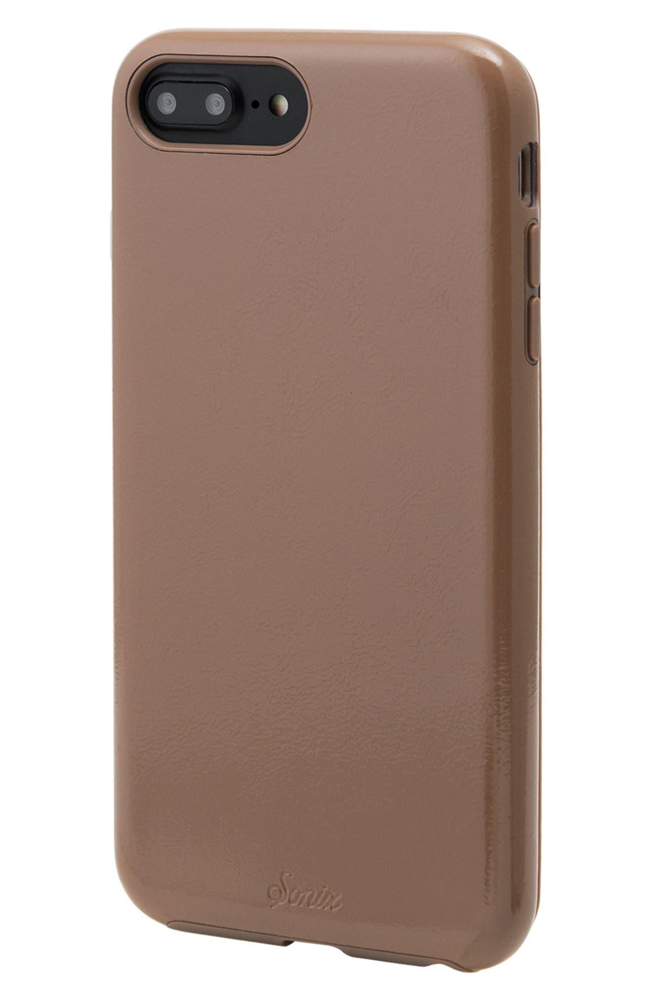 Cherry Faux Leather iPhone 6/6s/7/8 Plus Case,                             Alternate thumbnail 7, color,