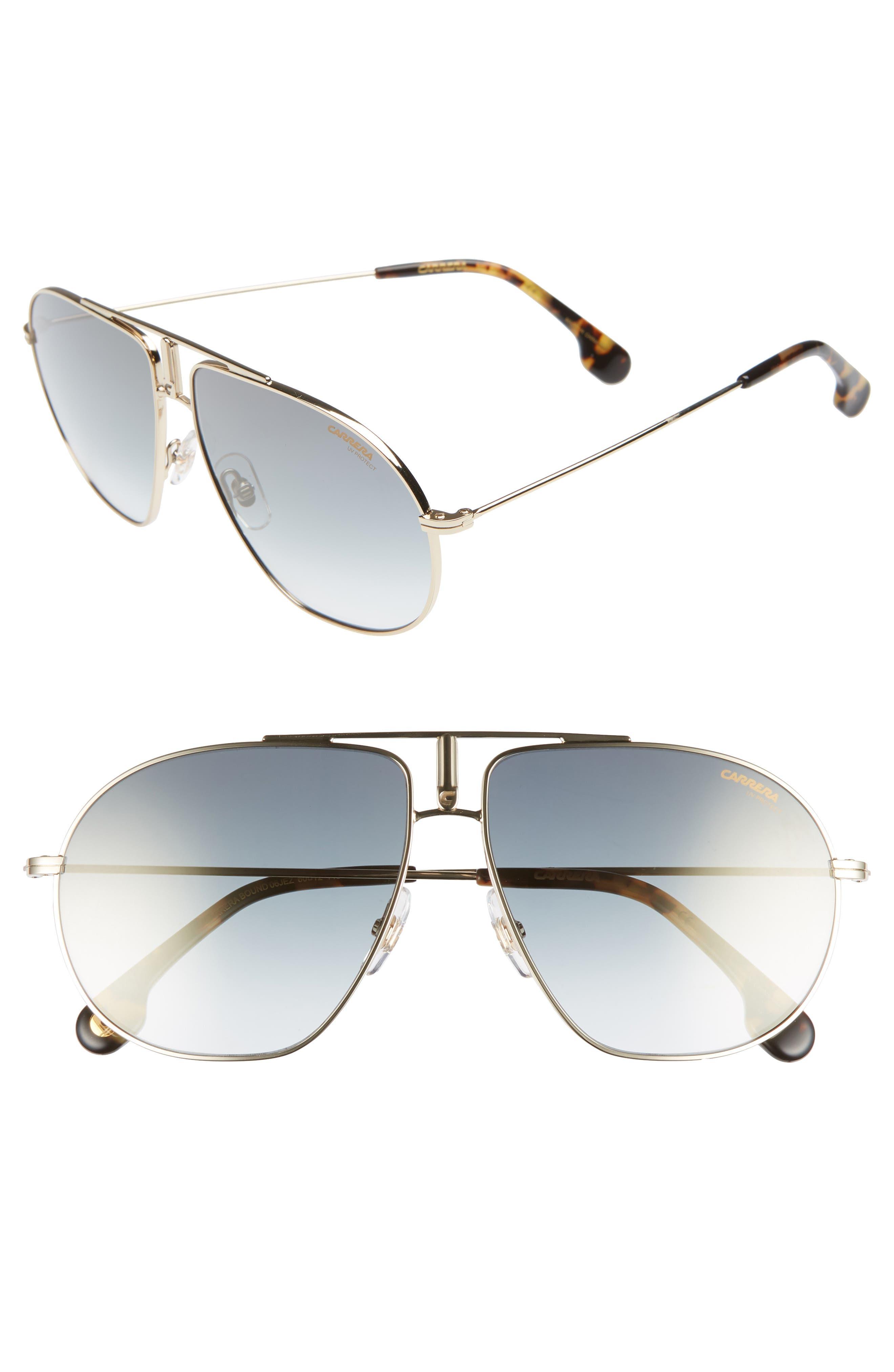 Carrera Eyewear Bounds 60Mm Gradient Aviator Sunglasses - Gold