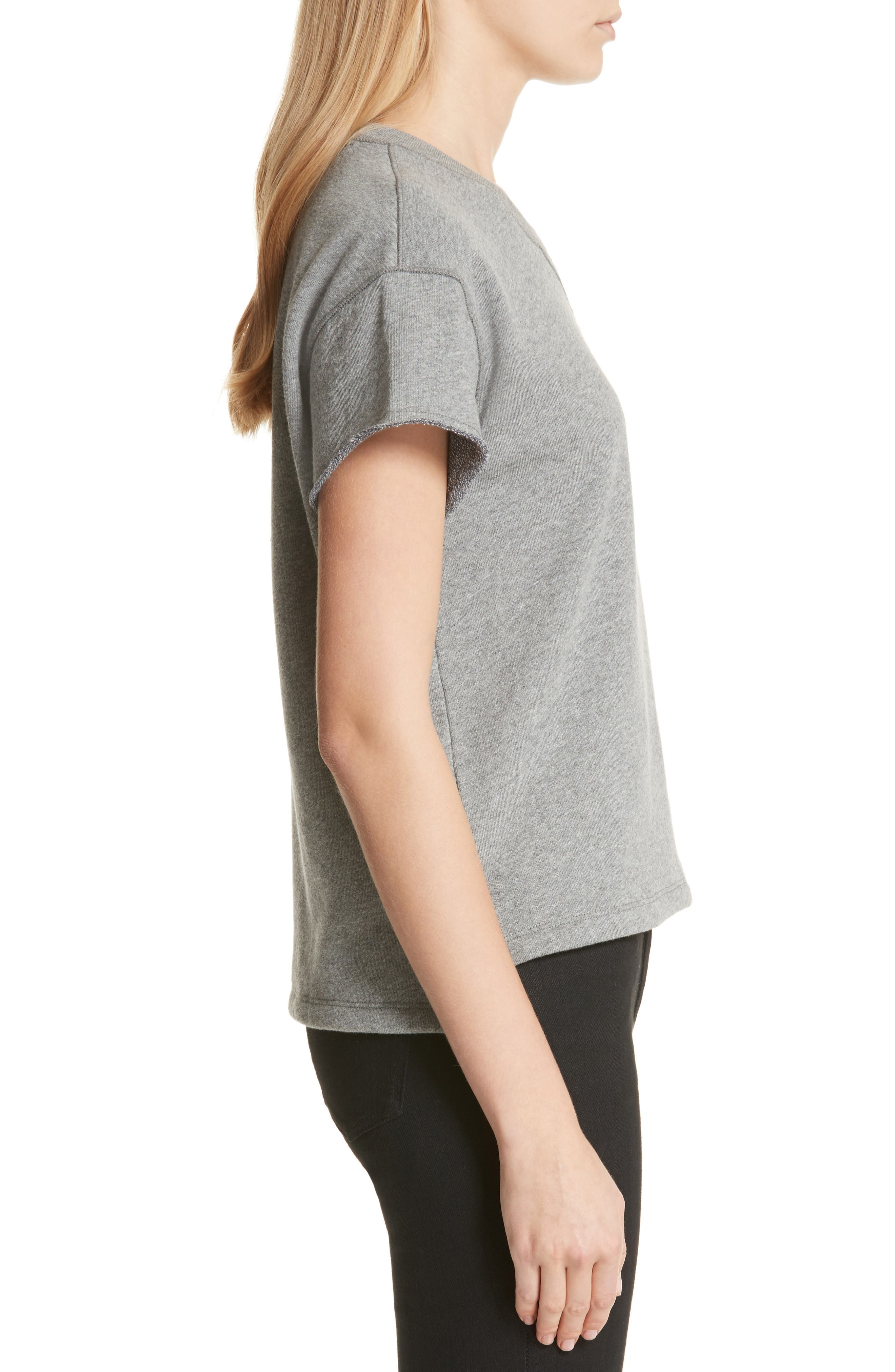 Short Sleeve Sweatshirt,                             Alternate thumbnail 3, color,