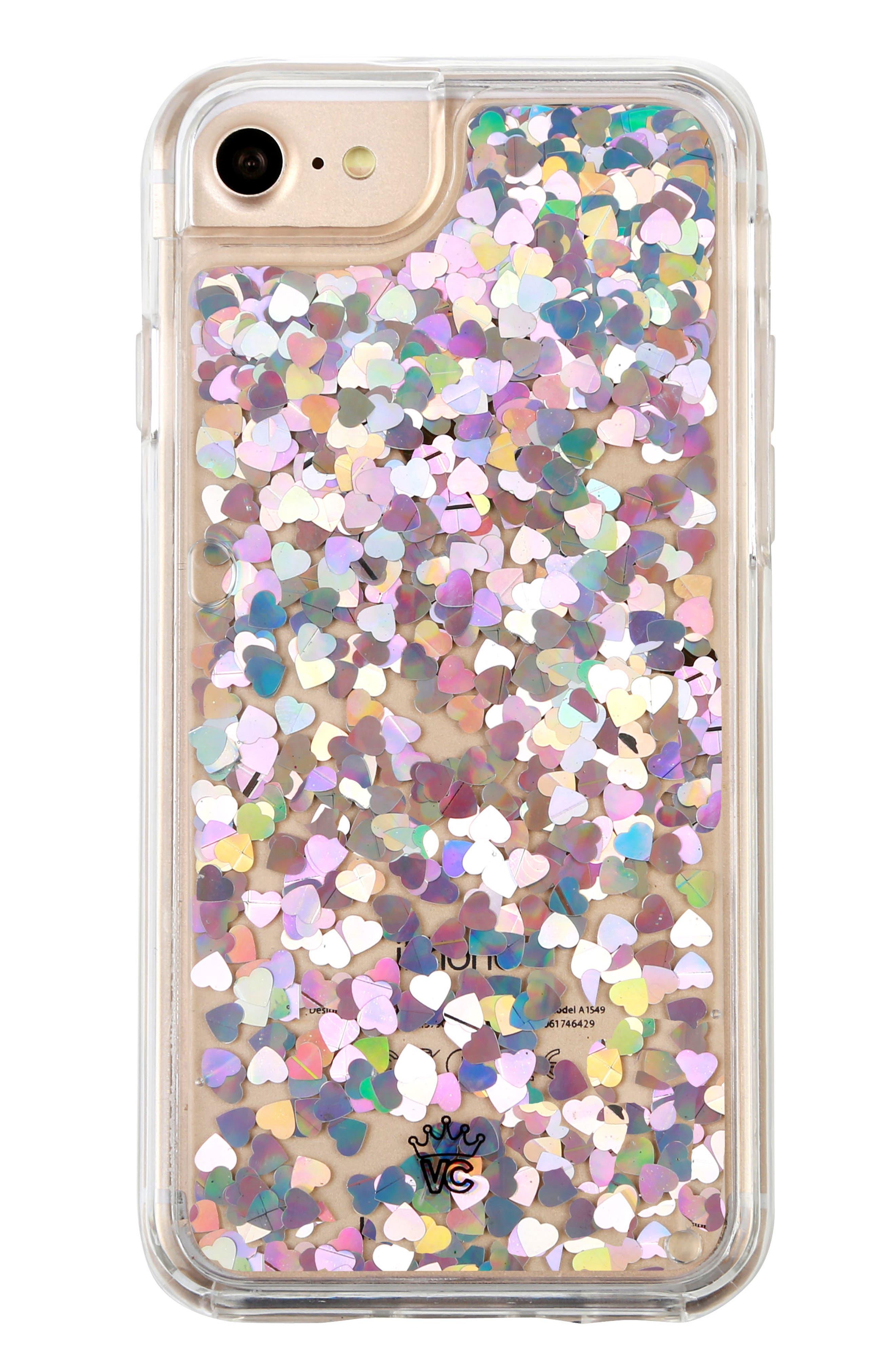 Holo Hearts iPhone 7 Case,                             Main thumbnail 1, color,                             040