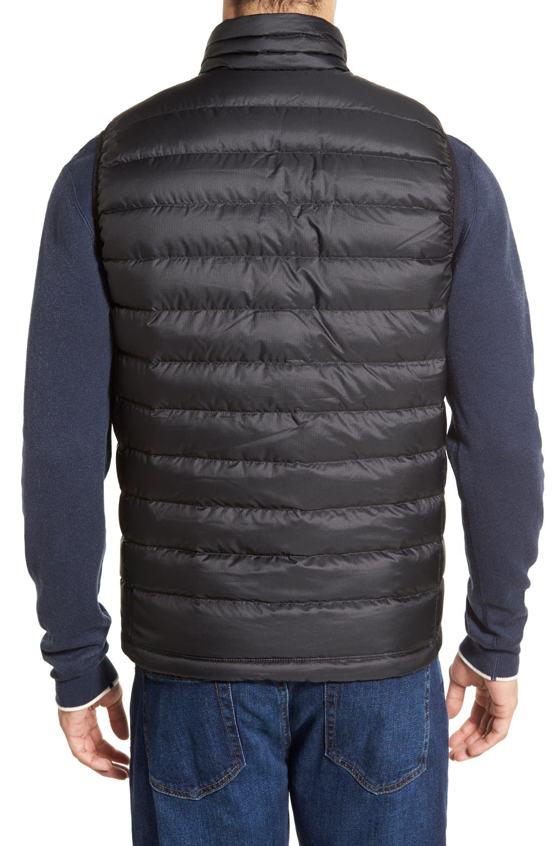 Windproof & Water Resistant 800 Fill Power Down Quilted Vest,                             Alternate thumbnail 16, color,