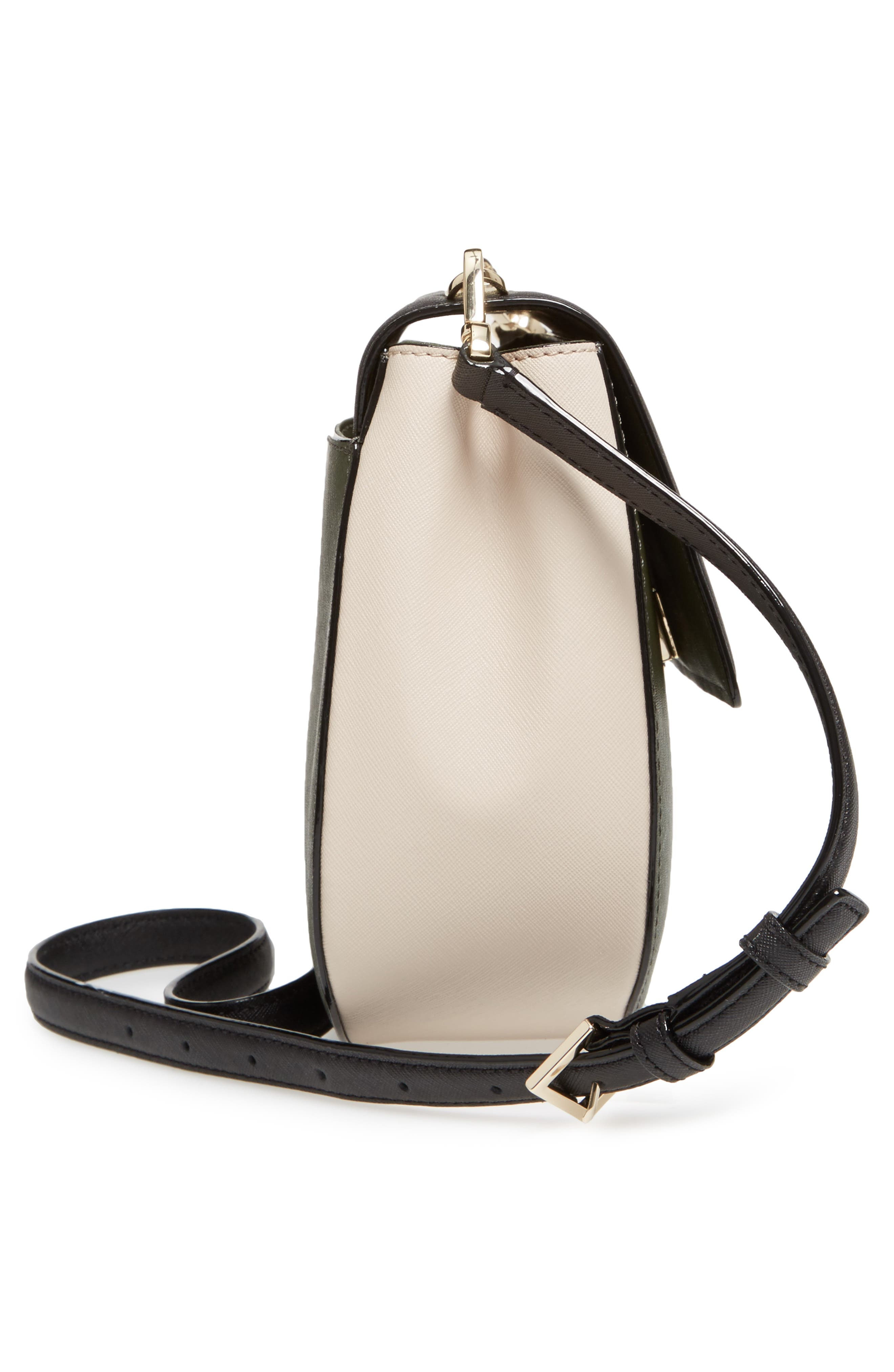 cameron street - byrdie leather crossbody bag,                             Alternate thumbnail 5, color,                             301