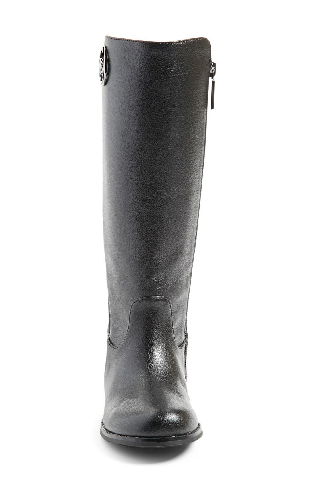 'Emma Lily' Riding Boot,                             Alternate thumbnail 3, color,                             001