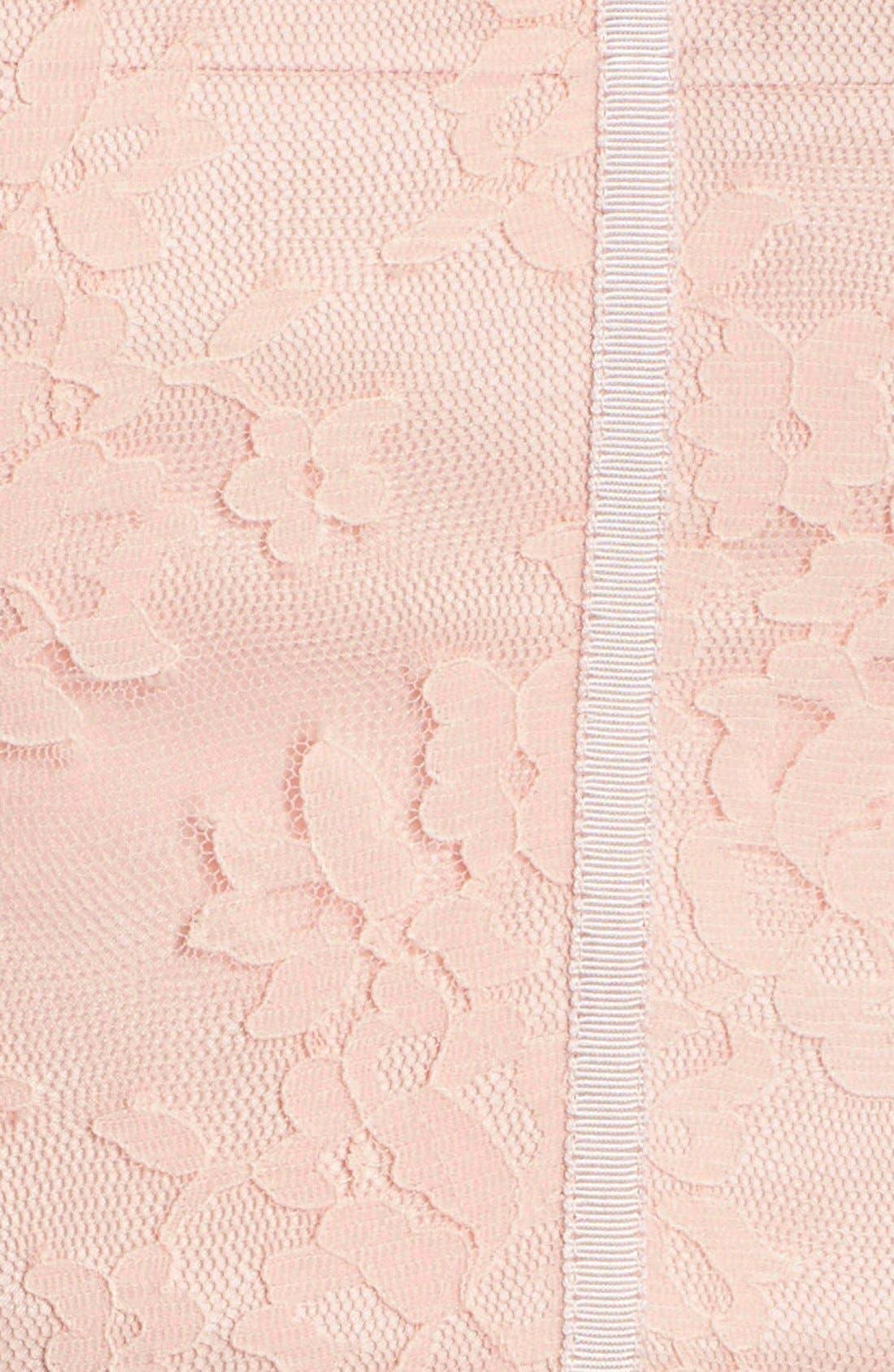 MONIQUE LHUILLIER BRIDESMAIDS,                             Strapless Lace & Tulle Gown,                             Alternate thumbnail 3, color,                             697
