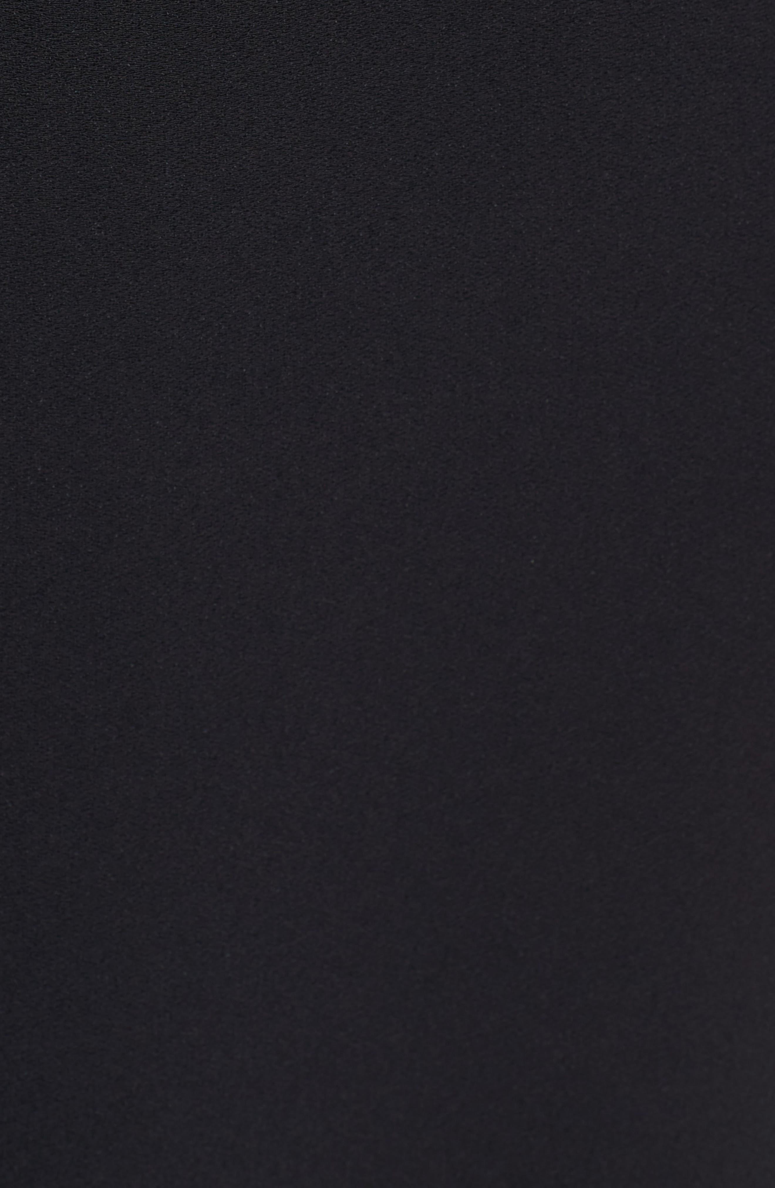 LEWIT,                             Button Detail Matte Crepe Midi Dress,                             Alternate thumbnail 5, color,                             001