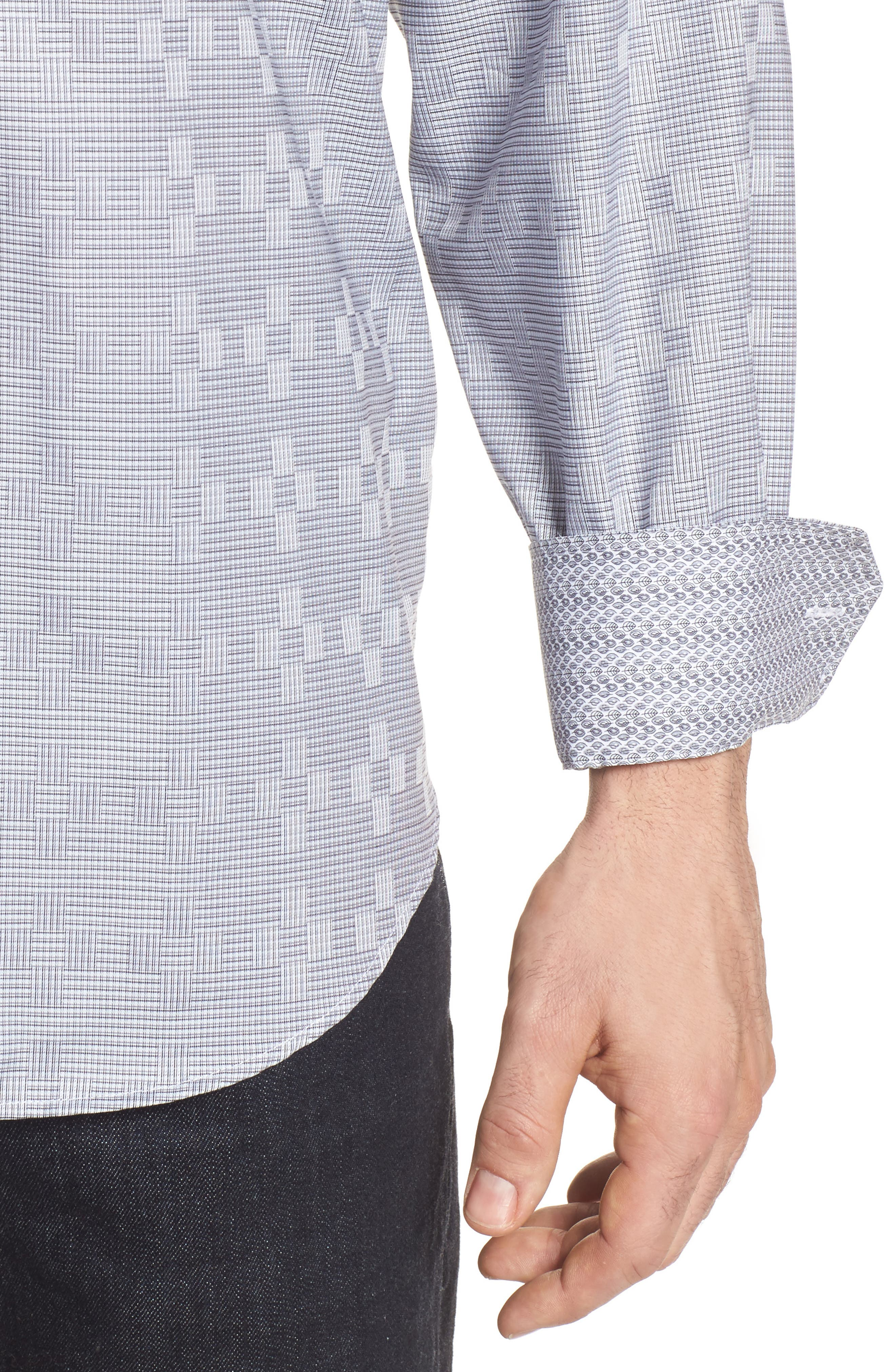 Classic Fit Print Sport Shirt,                             Alternate thumbnail 4, color,                             020