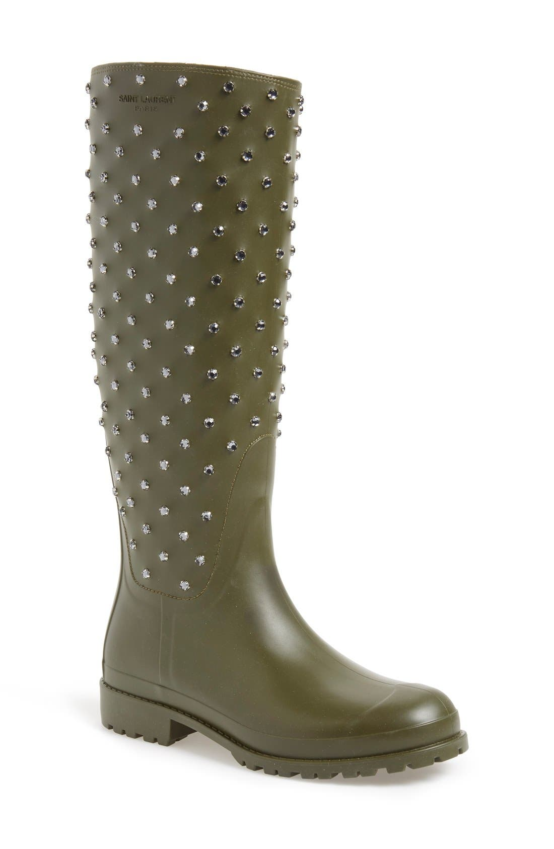 'Festival' Embellished Rain Boot, Main, color, 301