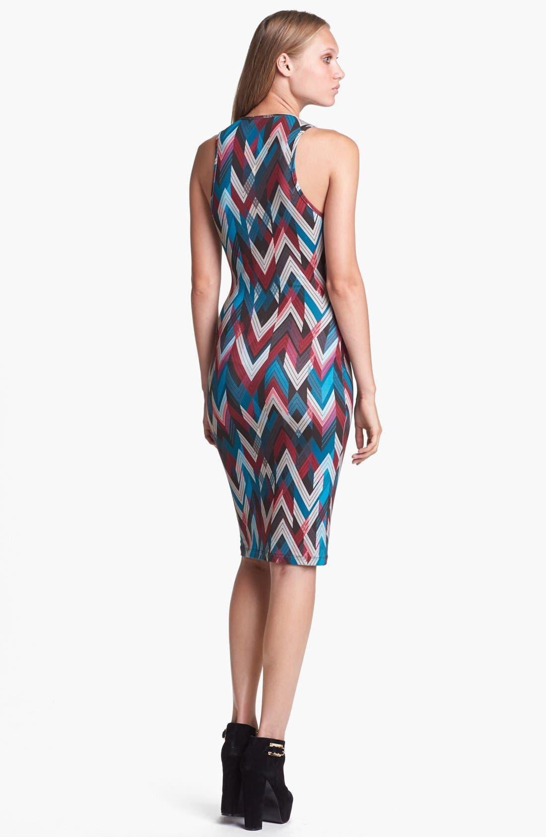 WAYF,                             Print Body-Con Tank Dress,                             Alternate thumbnail 2, color,                             001