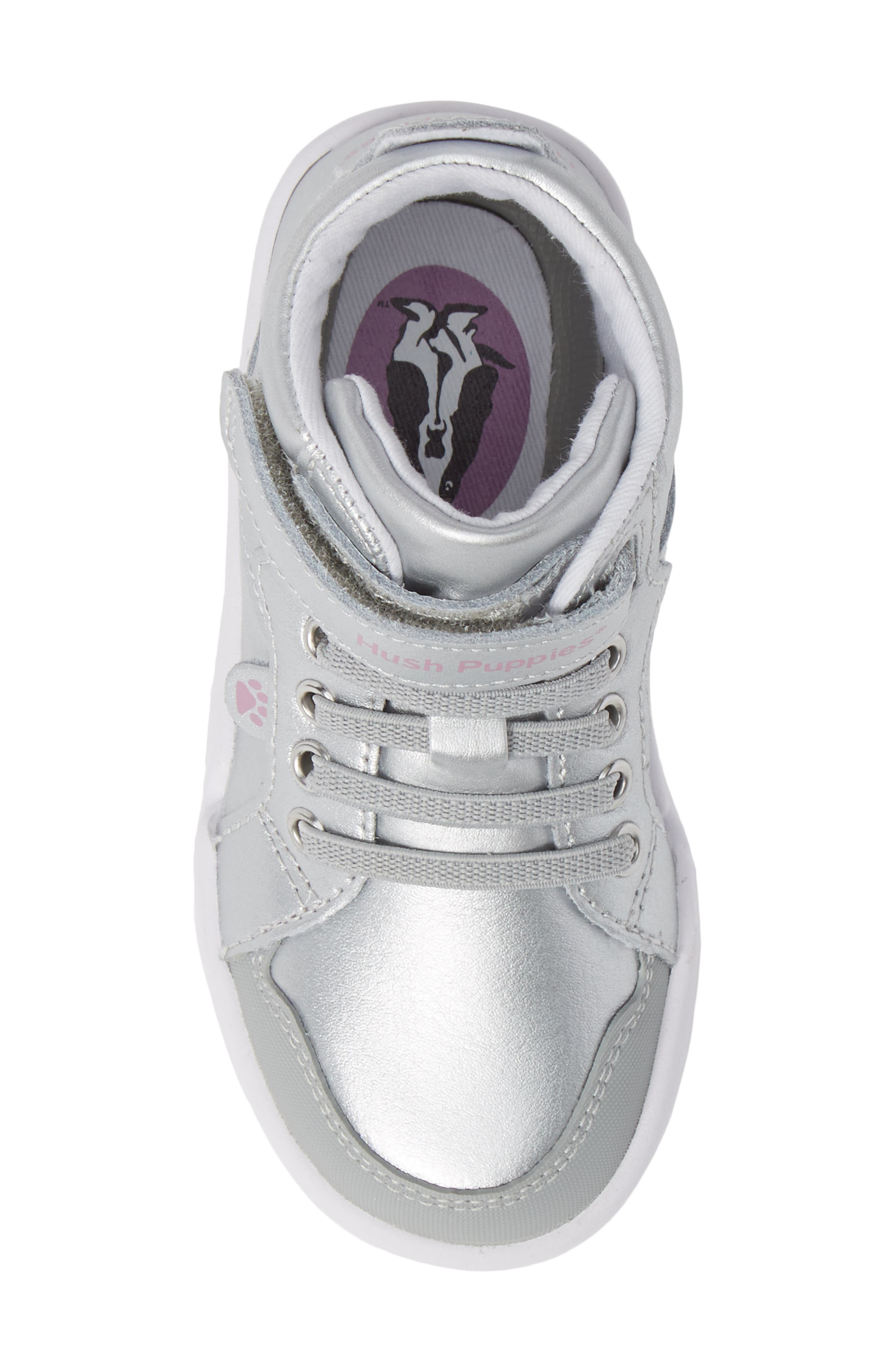 Buddy High Top Sneaker,                             Alternate thumbnail 5, color,                             SILVER