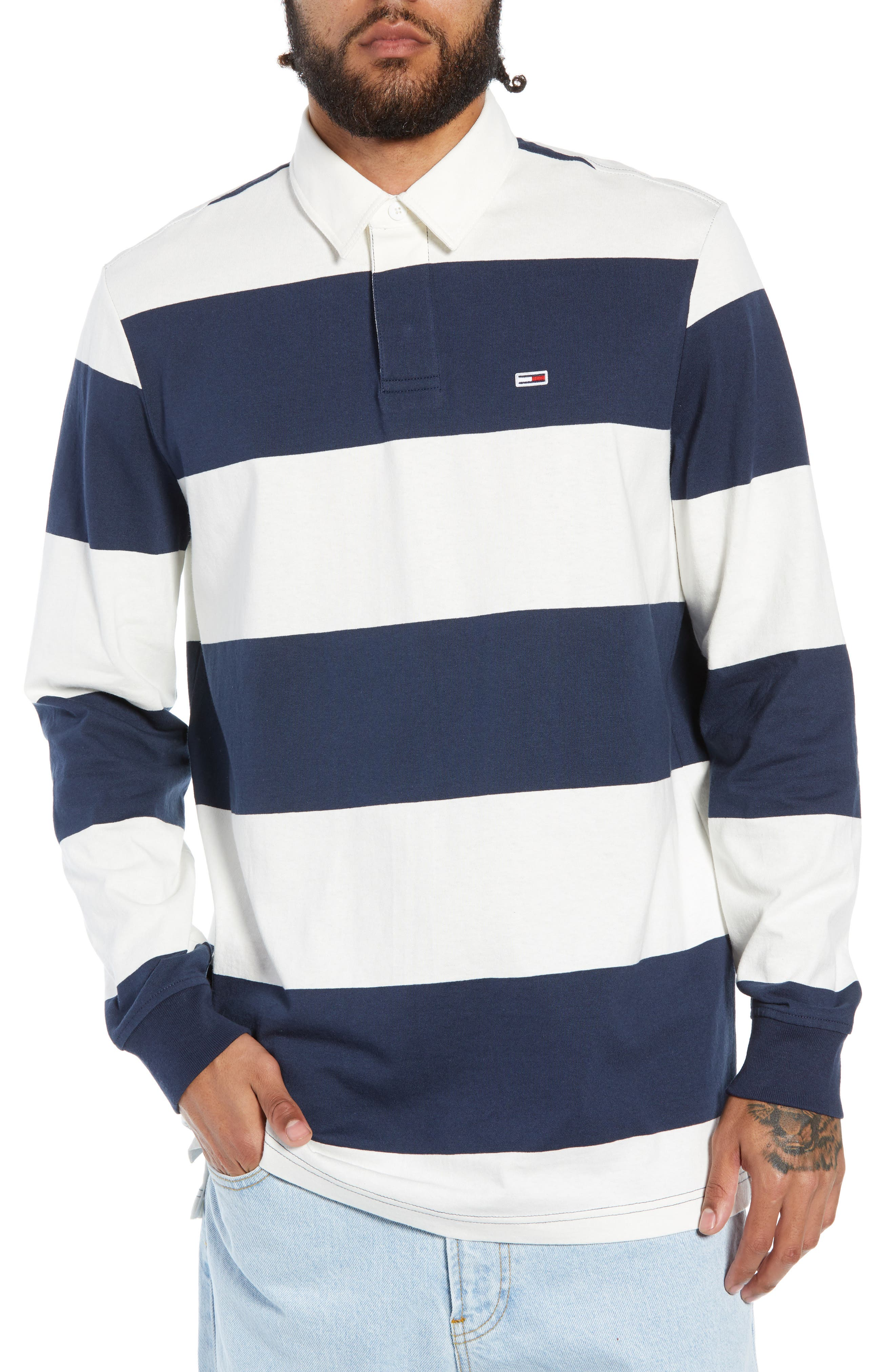 TJM Tommy Classics Rugby Shirt,                             Main thumbnail 1, color,                             100