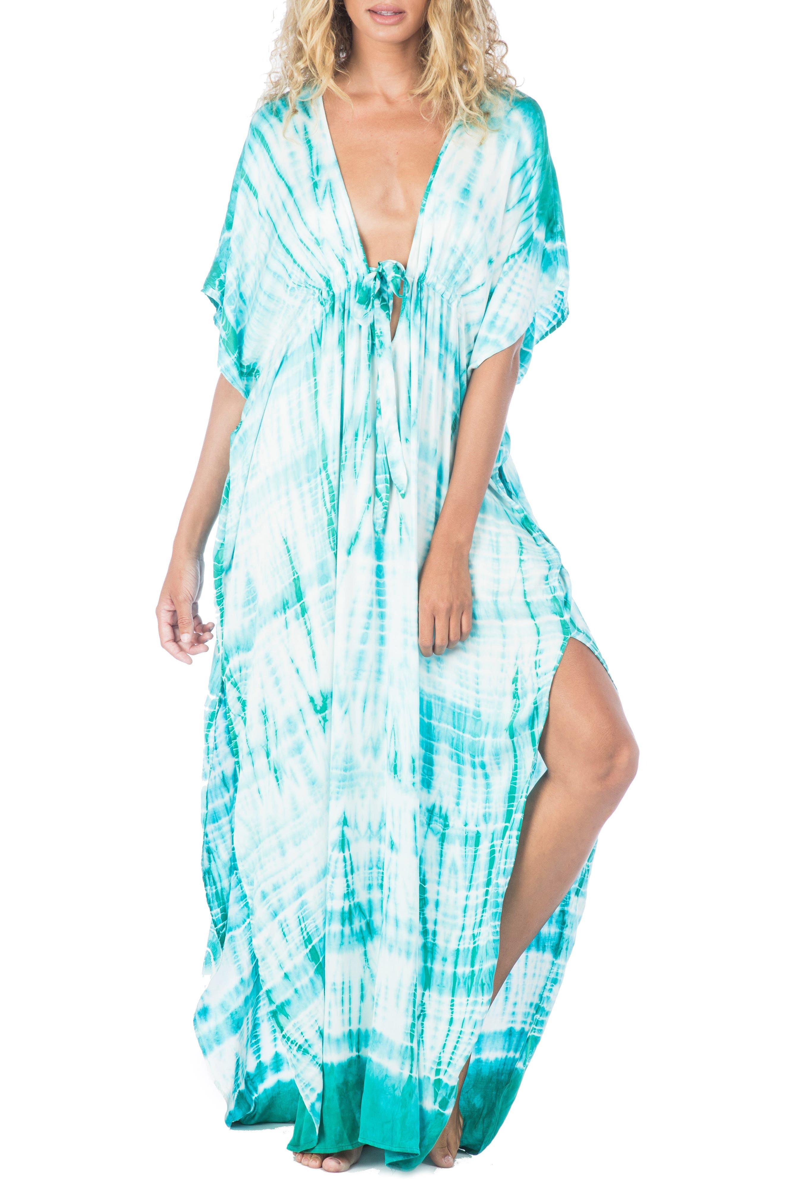 South Beach Tie Dye Ashley Cover-Up Dress,                             Alternate thumbnail 2, color,