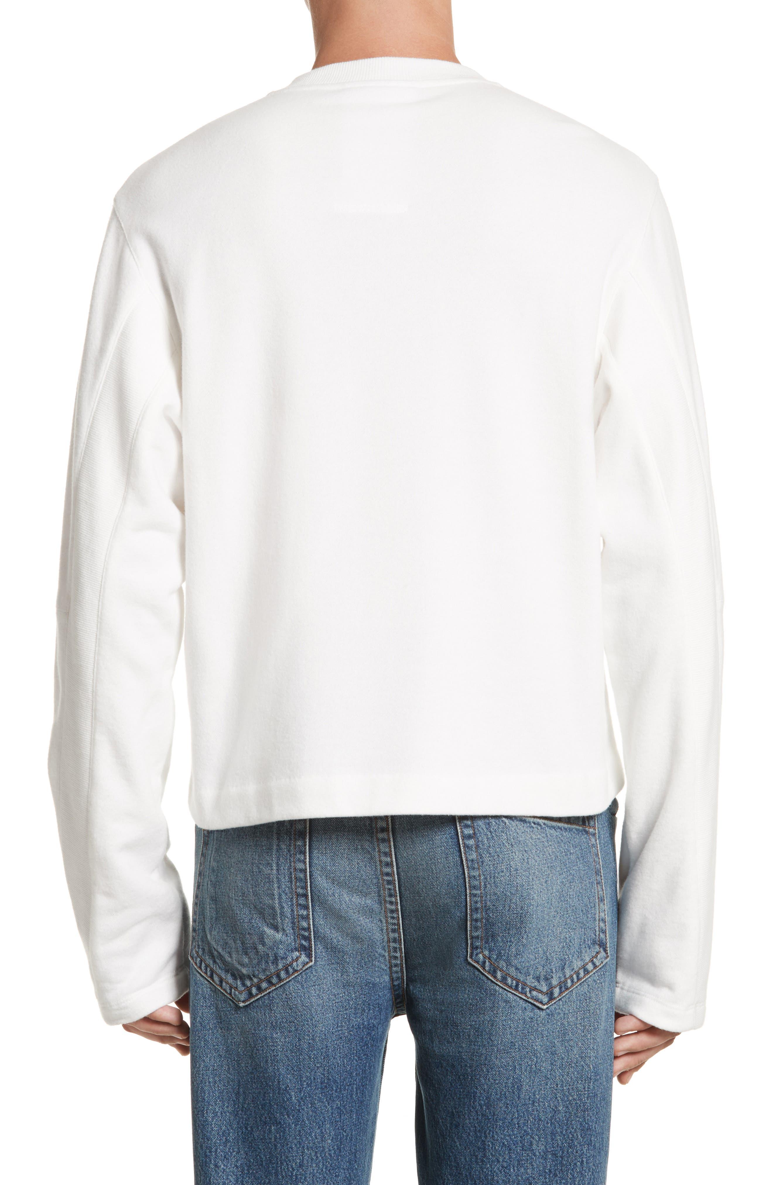 Rib Detail Crewneck Sweater,                             Alternate thumbnail 4, color,