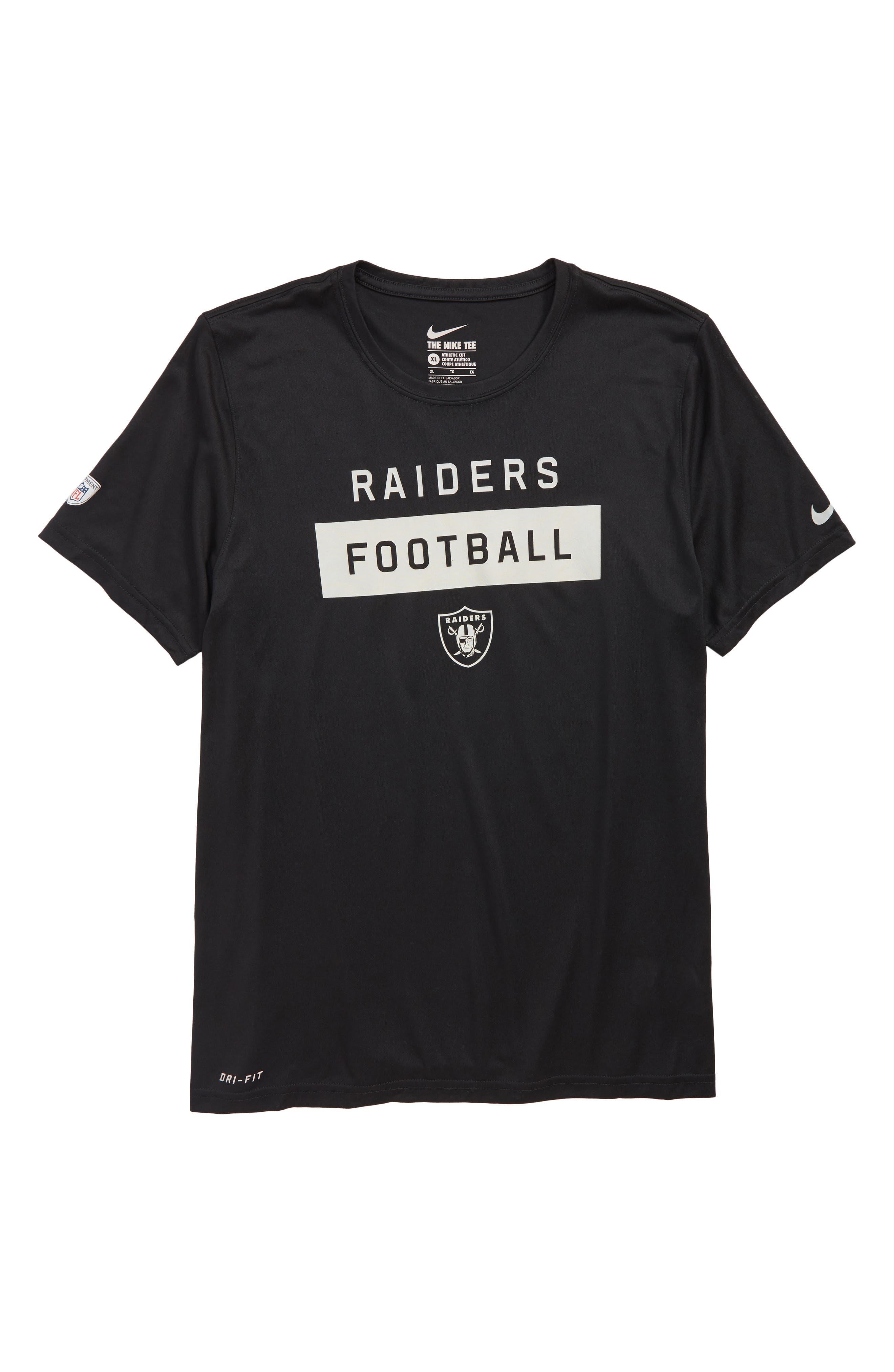 NFL Oakland Raiders Dry Legend Lift T-Shirt,                             Main thumbnail 1, color,                             BLACK