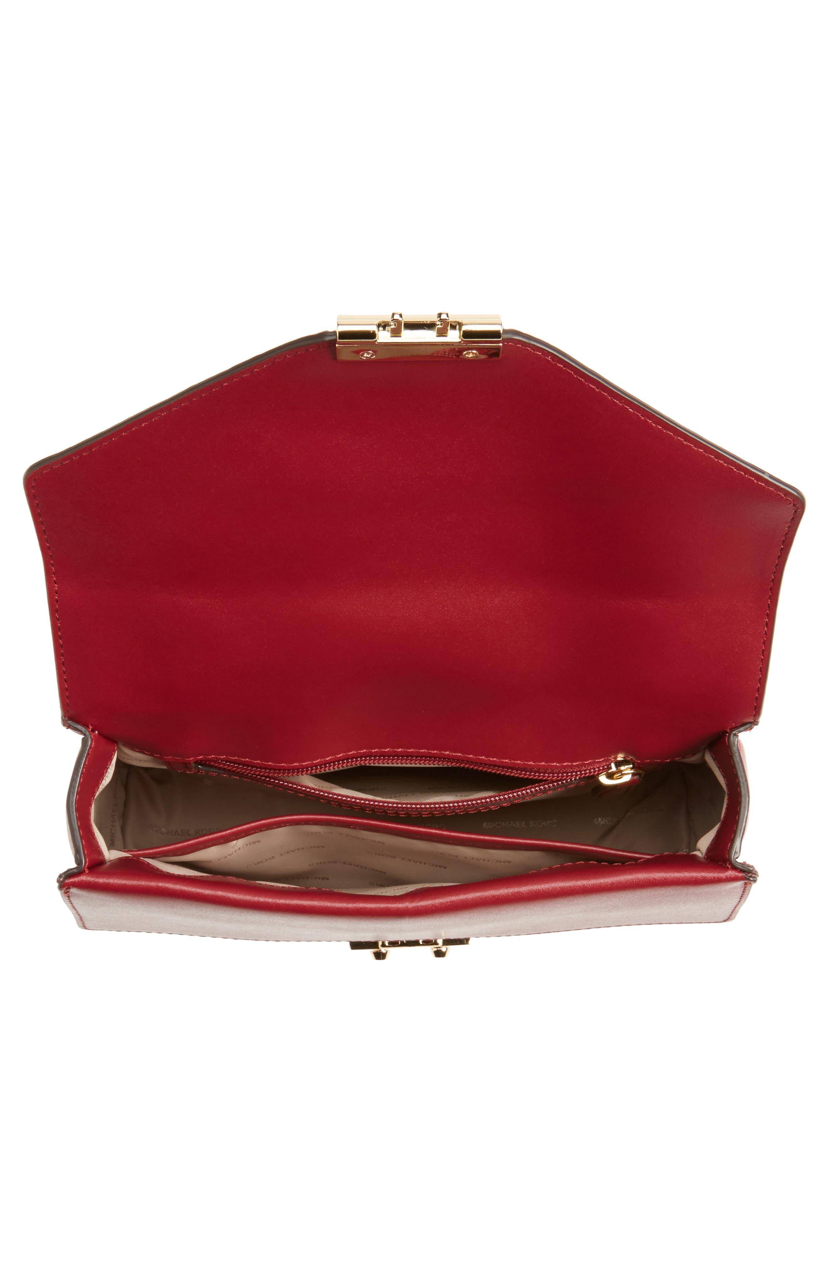 Medium Sloan Leather Shoulder Bag,                             Alternate thumbnail 4, color,                             686