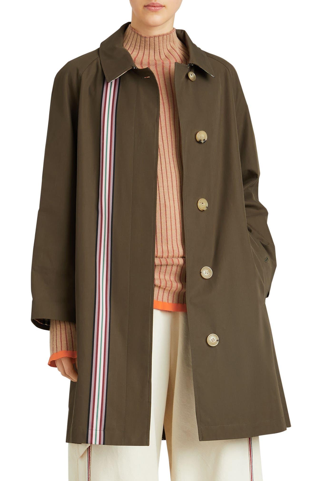Eastborne Collegiate Stripe Car Coat,                             Main thumbnail 1, color,                             301