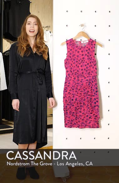 Micah Ruched Blouson Dress, sales video thumbnail