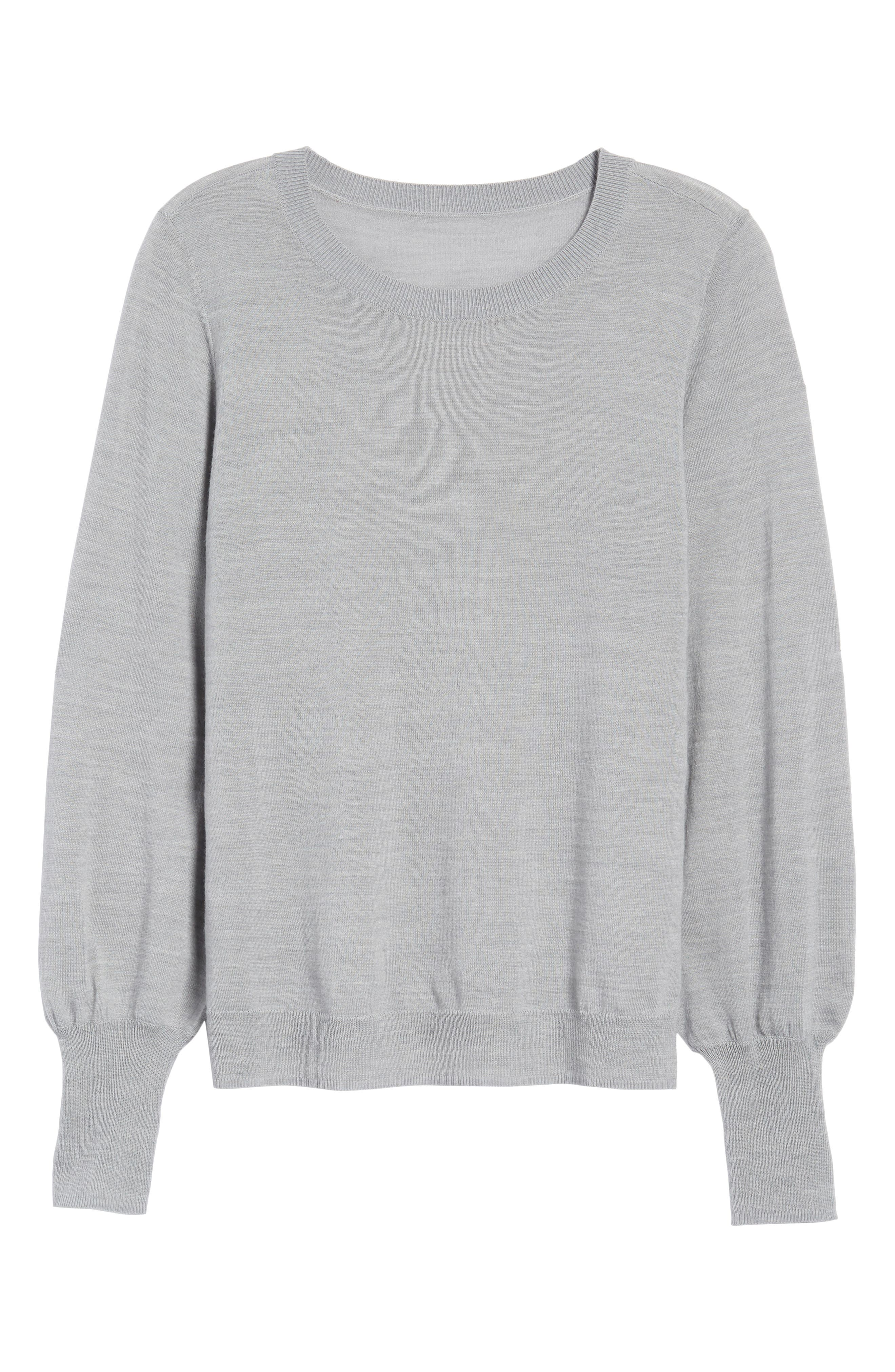 Puff Sleeve Sweater,                             Alternate thumbnail 53, color,