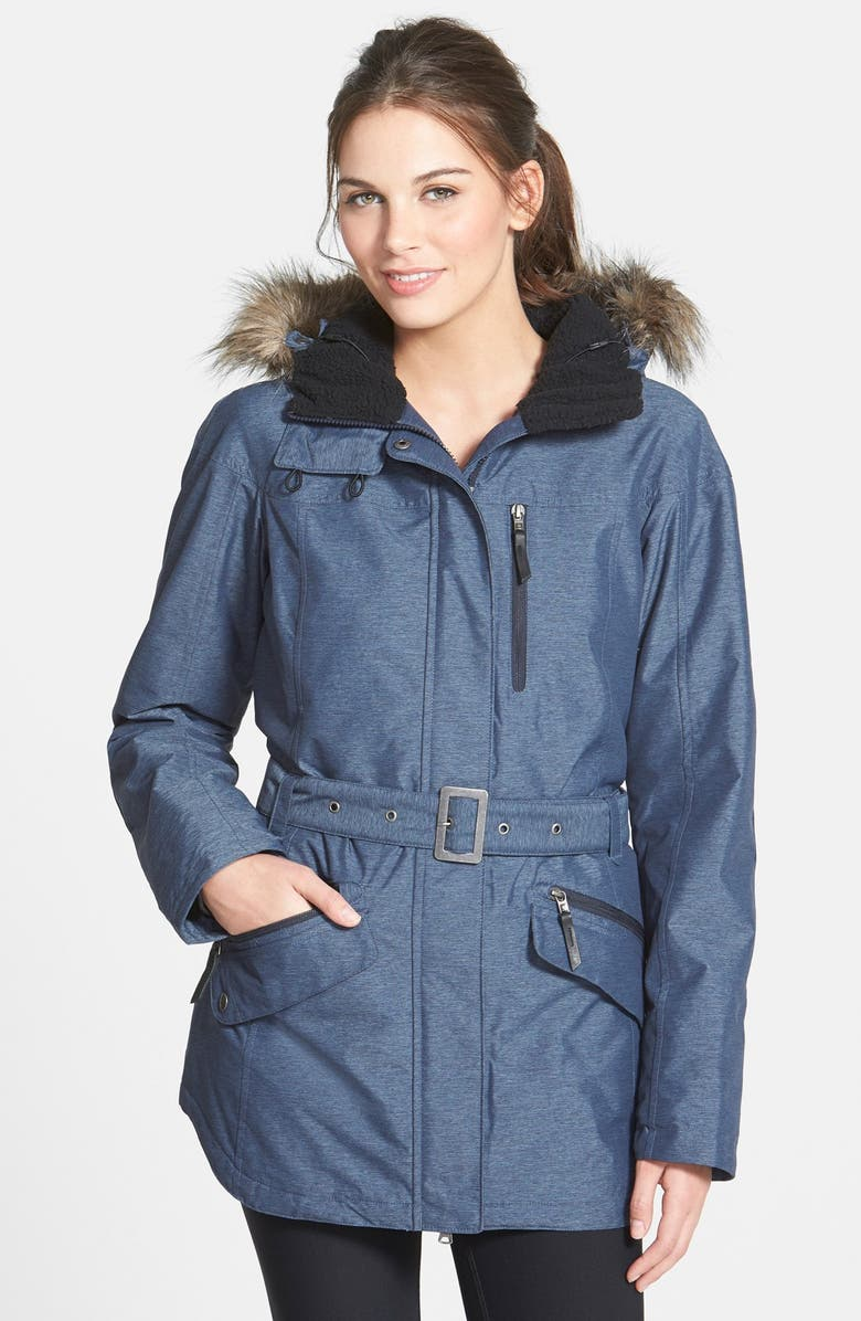 COLUMBIA  Carson Pass II  Hooded Waterproof Jacket with Removable Faux Fur  Trim 656e7f588