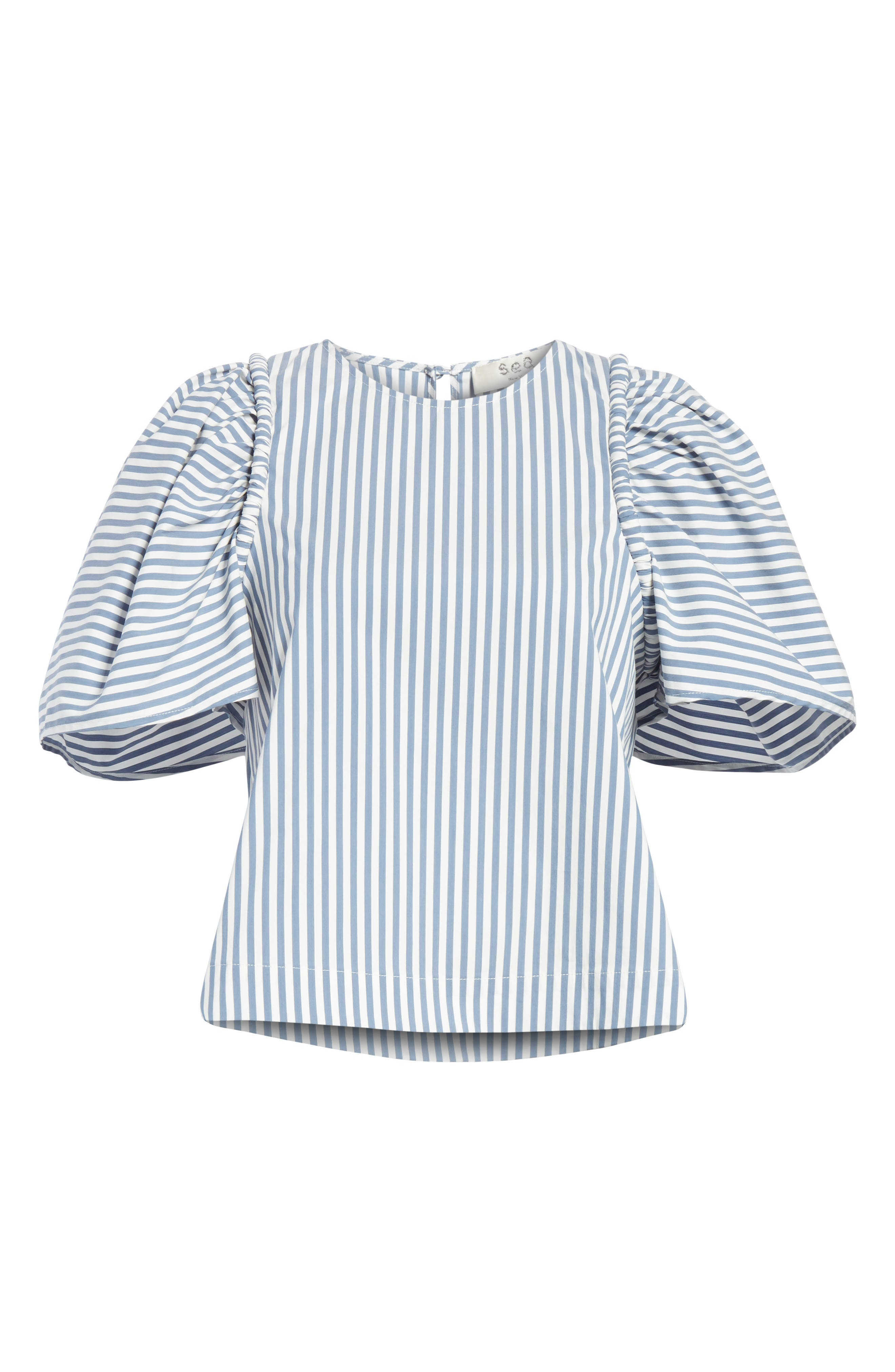 Riviera Corded Puff Sleeve Blouse,                             Alternate thumbnail 6, color,                             105