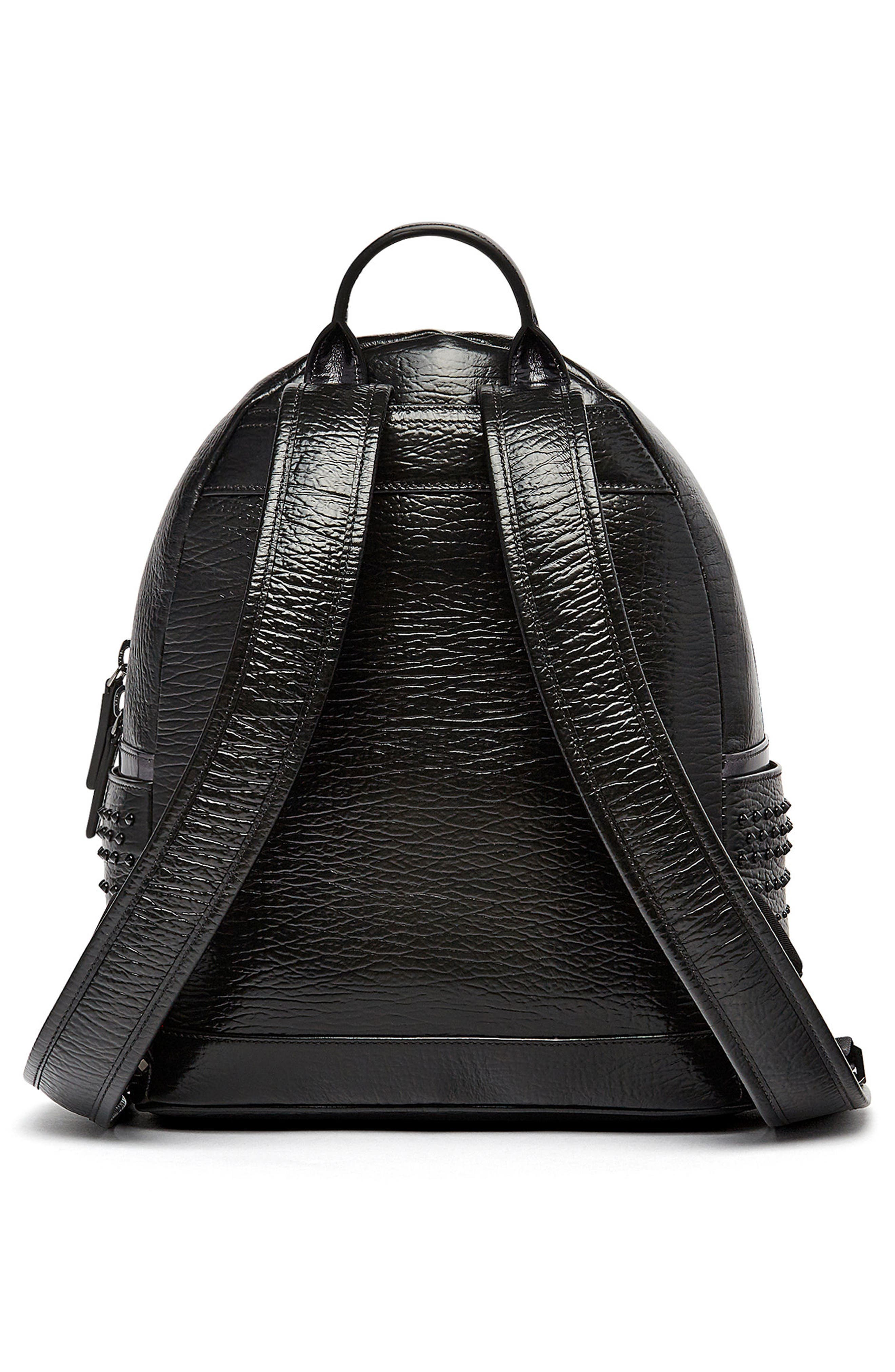 Dual Stark Studded Leather Backpack,                             Alternate thumbnail 5, color,