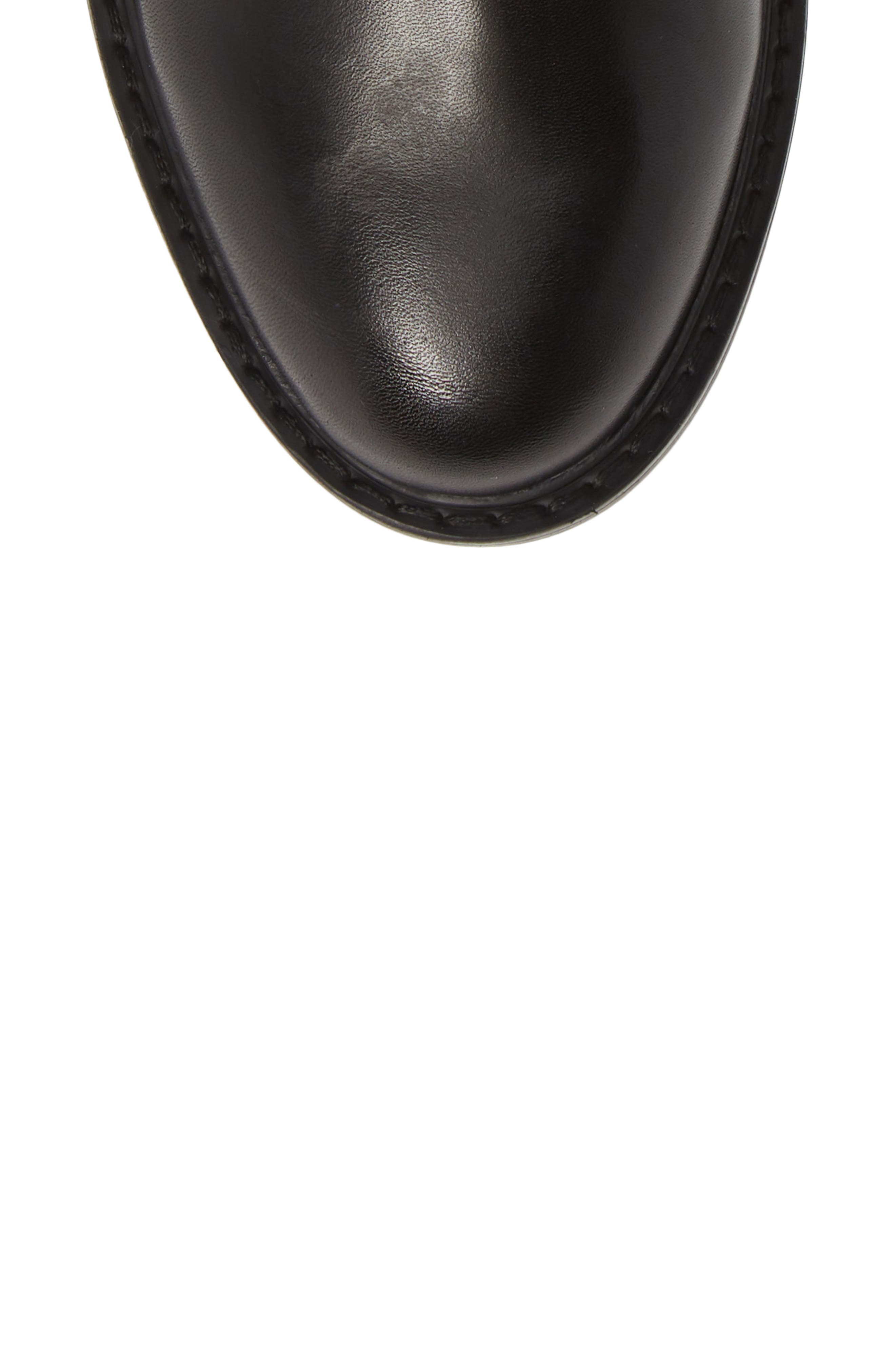 Gliding Boot,                             Alternate thumbnail 5, color,                             BLACK LEATHER