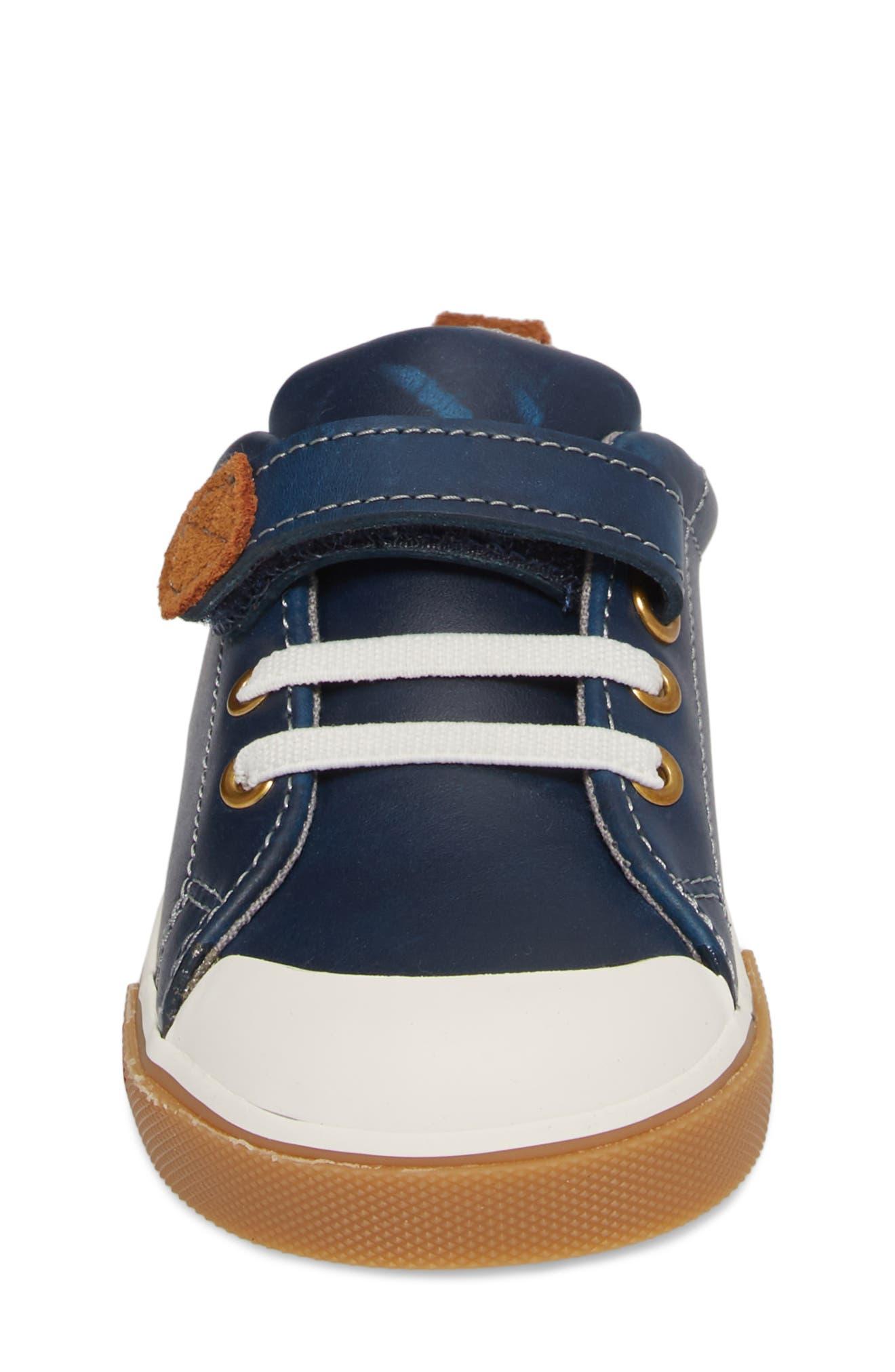 Stevie II Sneaker,                             Alternate thumbnail 4, color,                             NAVY LEATHER