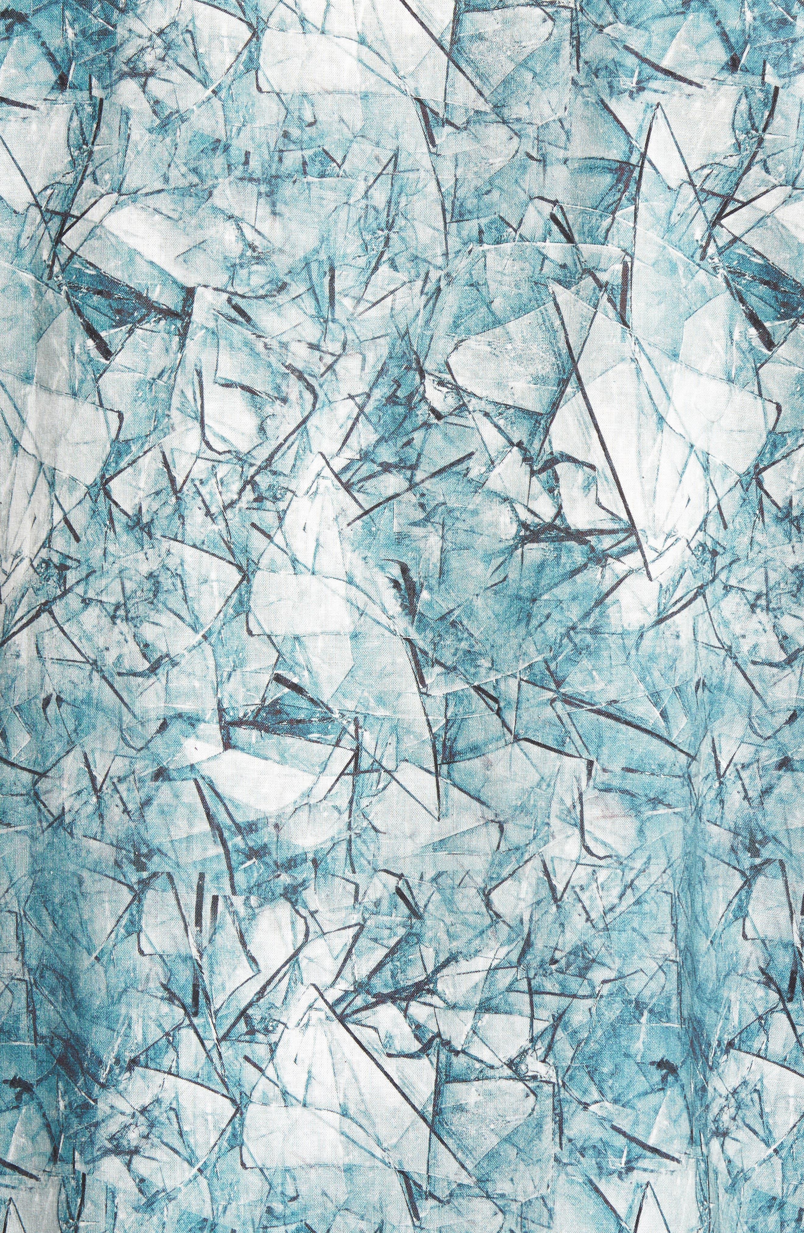 Shoto Short Sleeve Shirt,                             Alternate thumbnail 5, color,                             SHATTERED BLUE