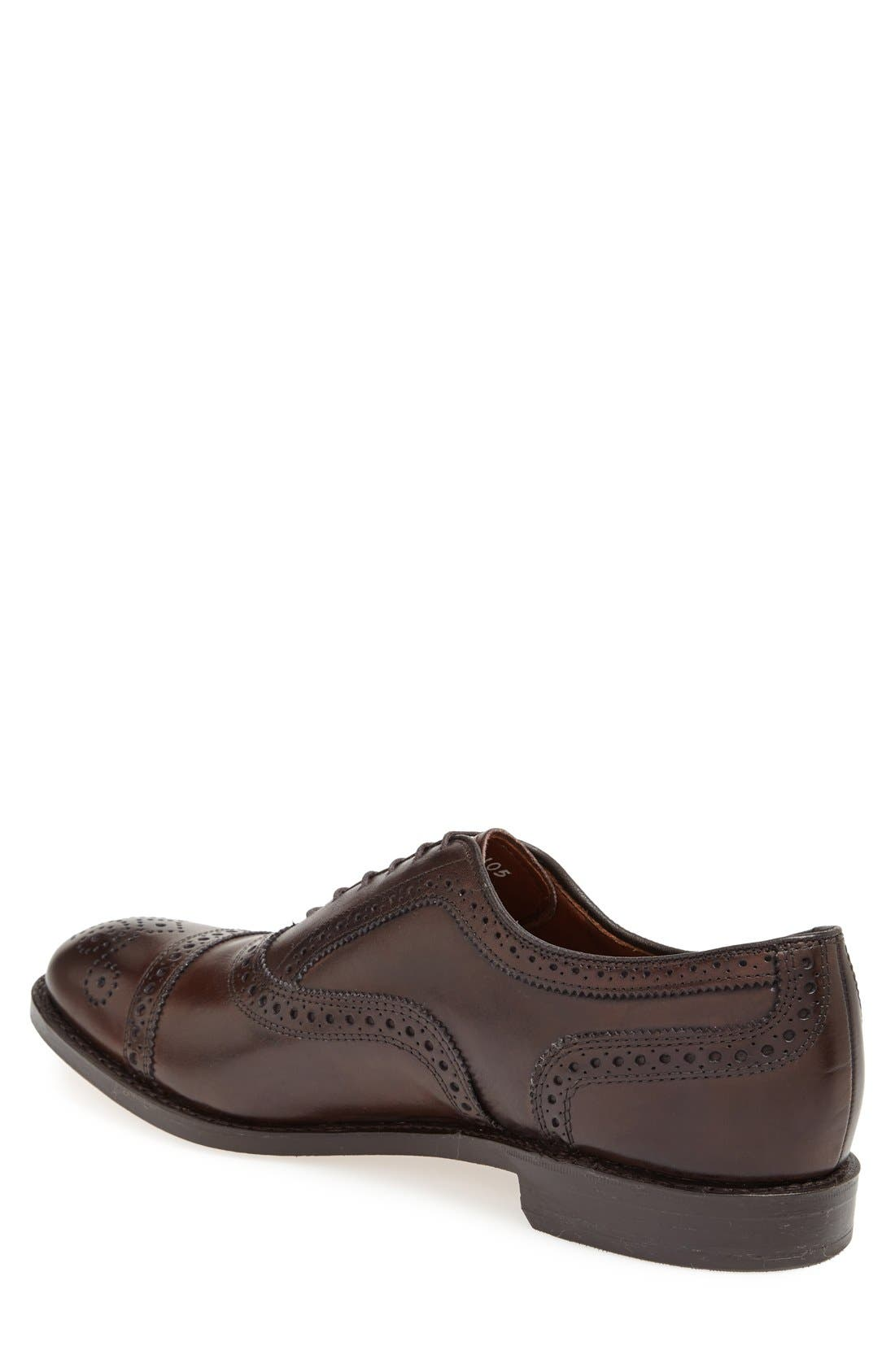 'Strand' Cap Toe Oxford,                             Alternate thumbnail 3, color,                             BROWN BURNISHED CALF