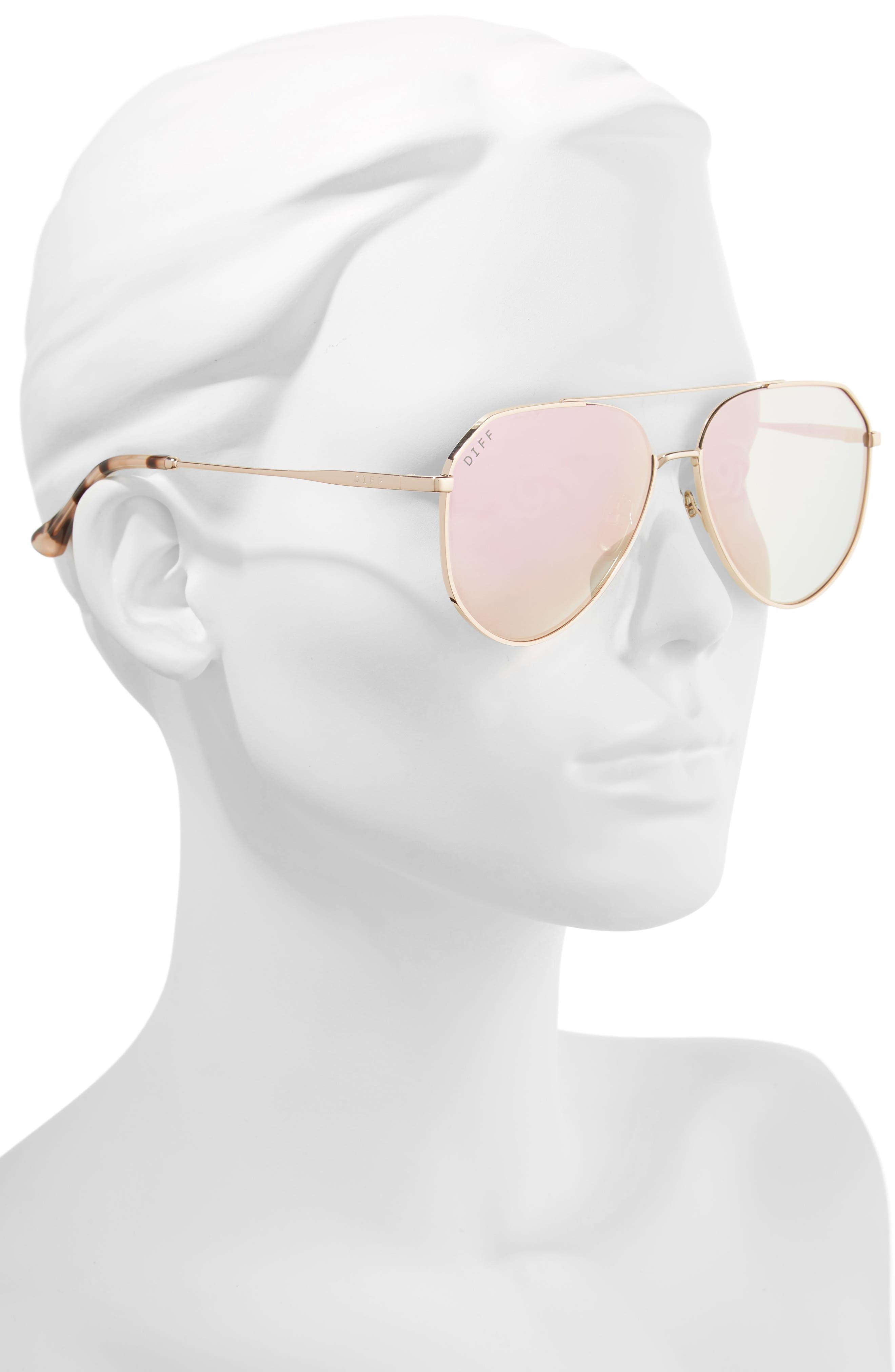Dash 58mm Aviator Sunglasses,                             Alternate thumbnail 2, color,                             CHAMPAGNE