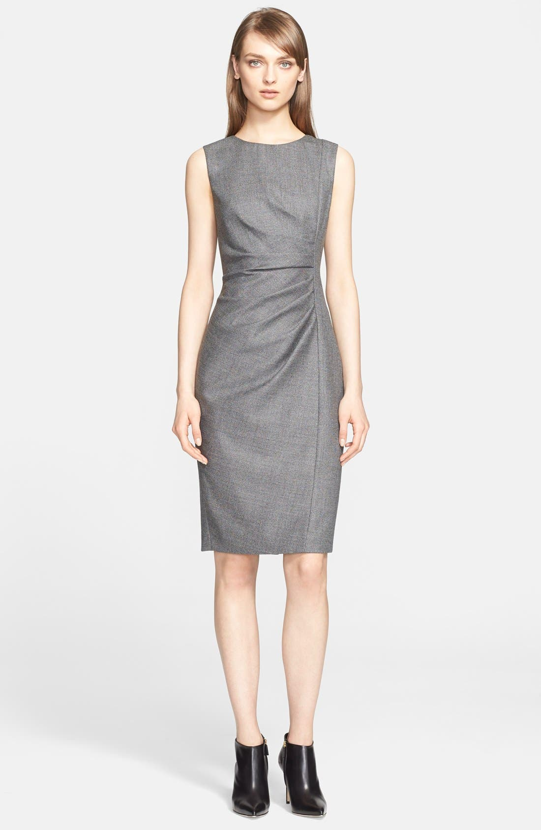 'Terry' Wool Blend Sheath Dress,                             Main thumbnail 1, color,