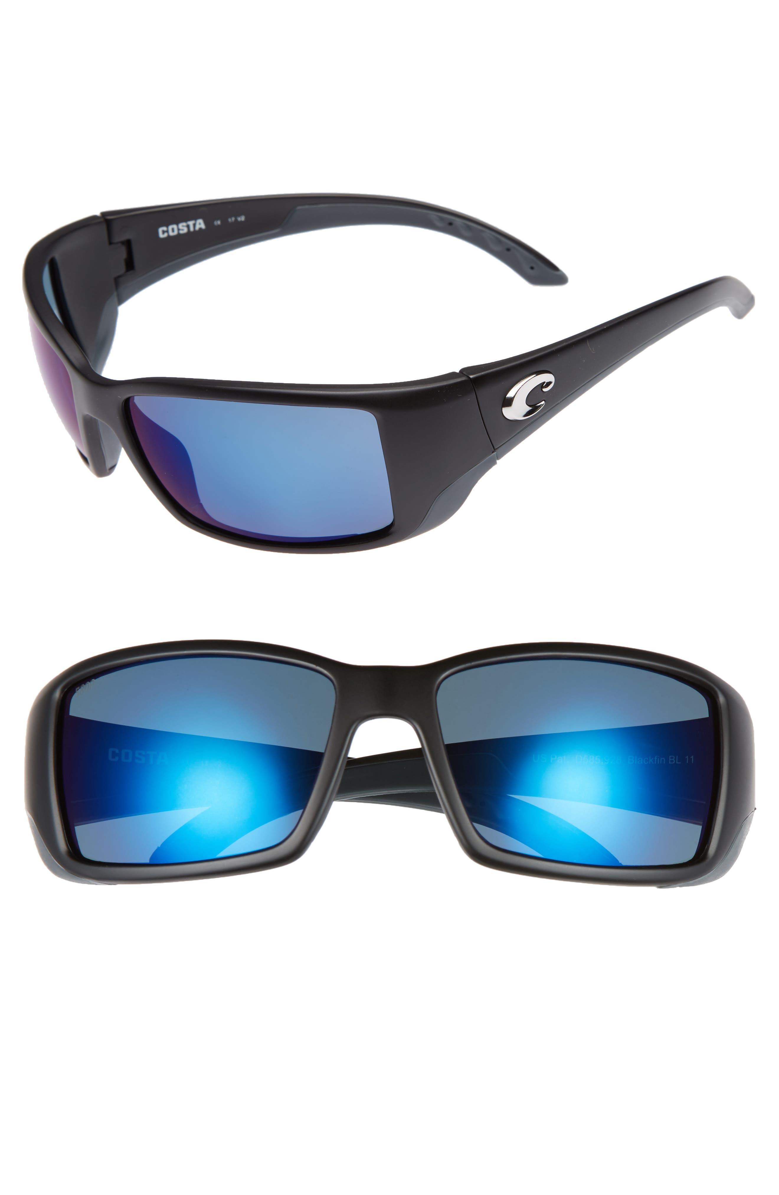 Blackfin 60mm Polarized Sunglasses,                             Main thumbnail 1, color,                             001