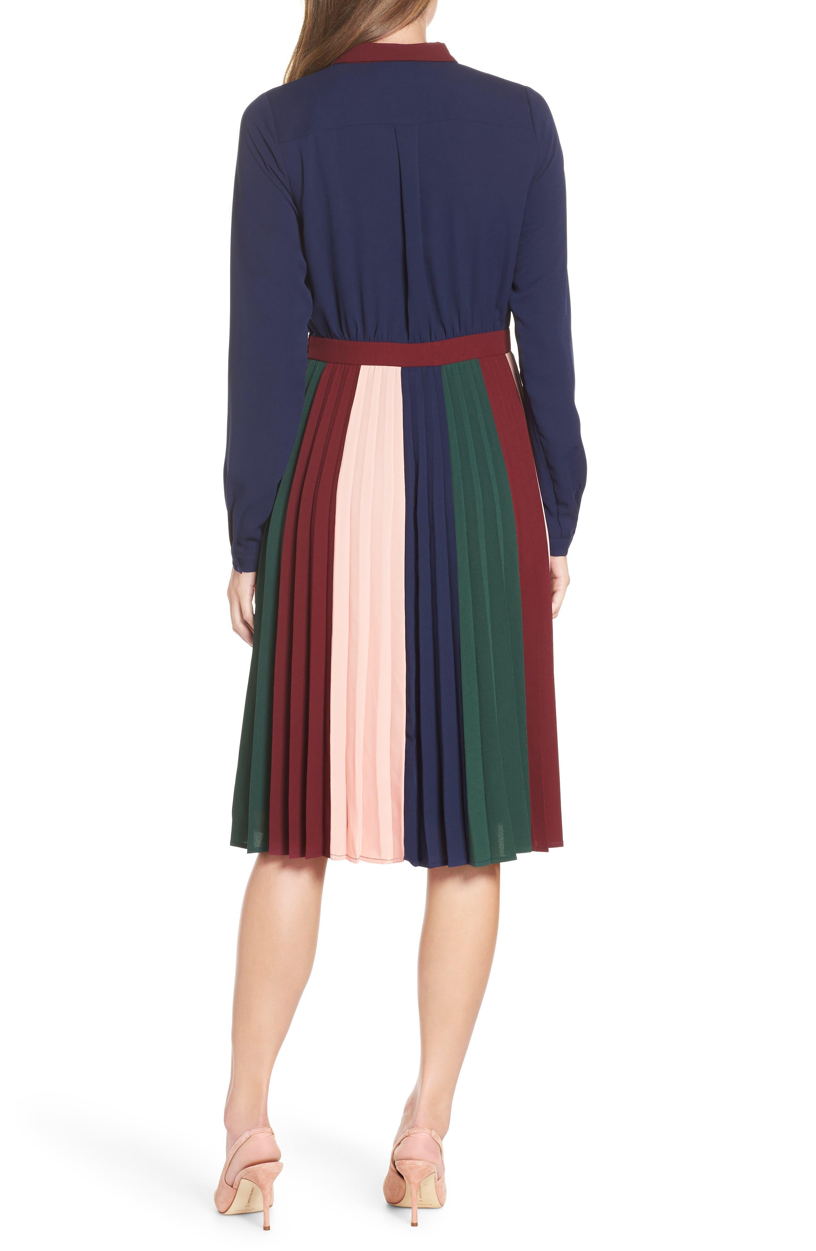 Colorblock Midi Dress,                             Alternate thumbnail 2, color,                             410