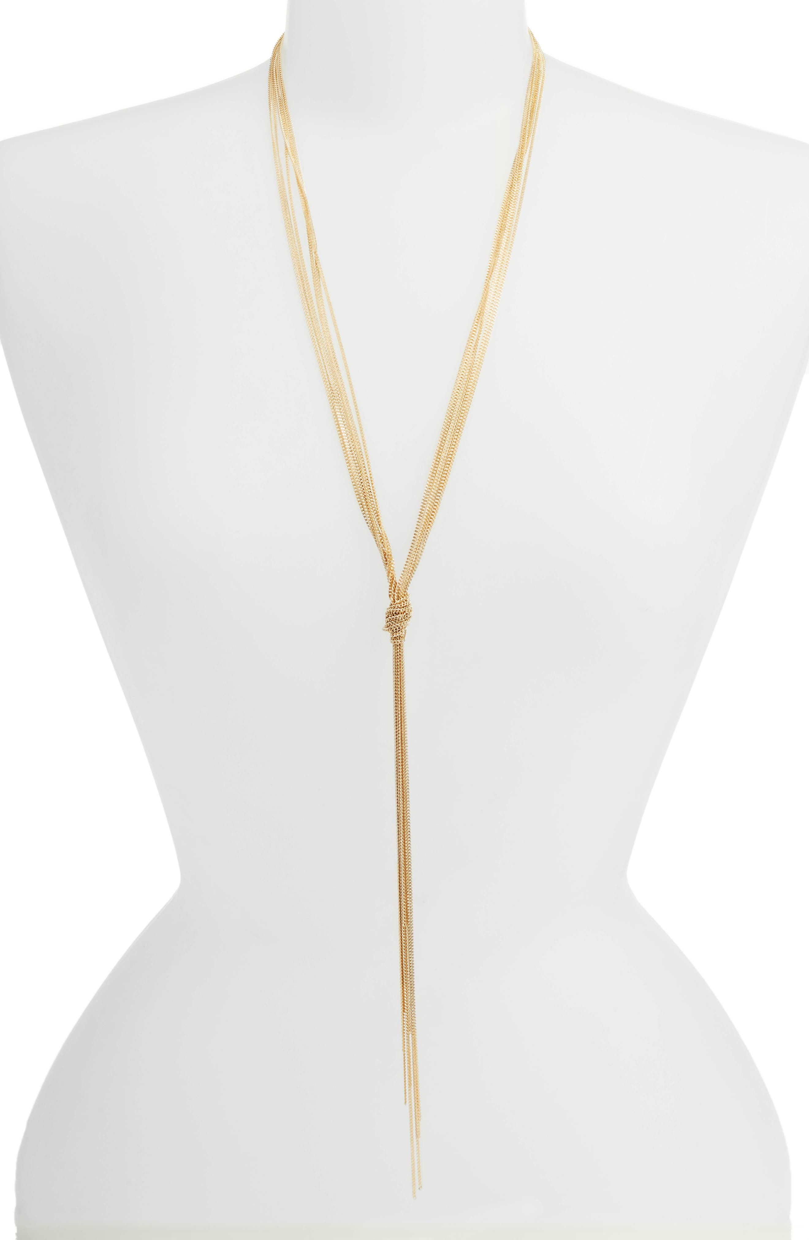 Painted Chain Y-Necklace,                         Main,                         color, 710