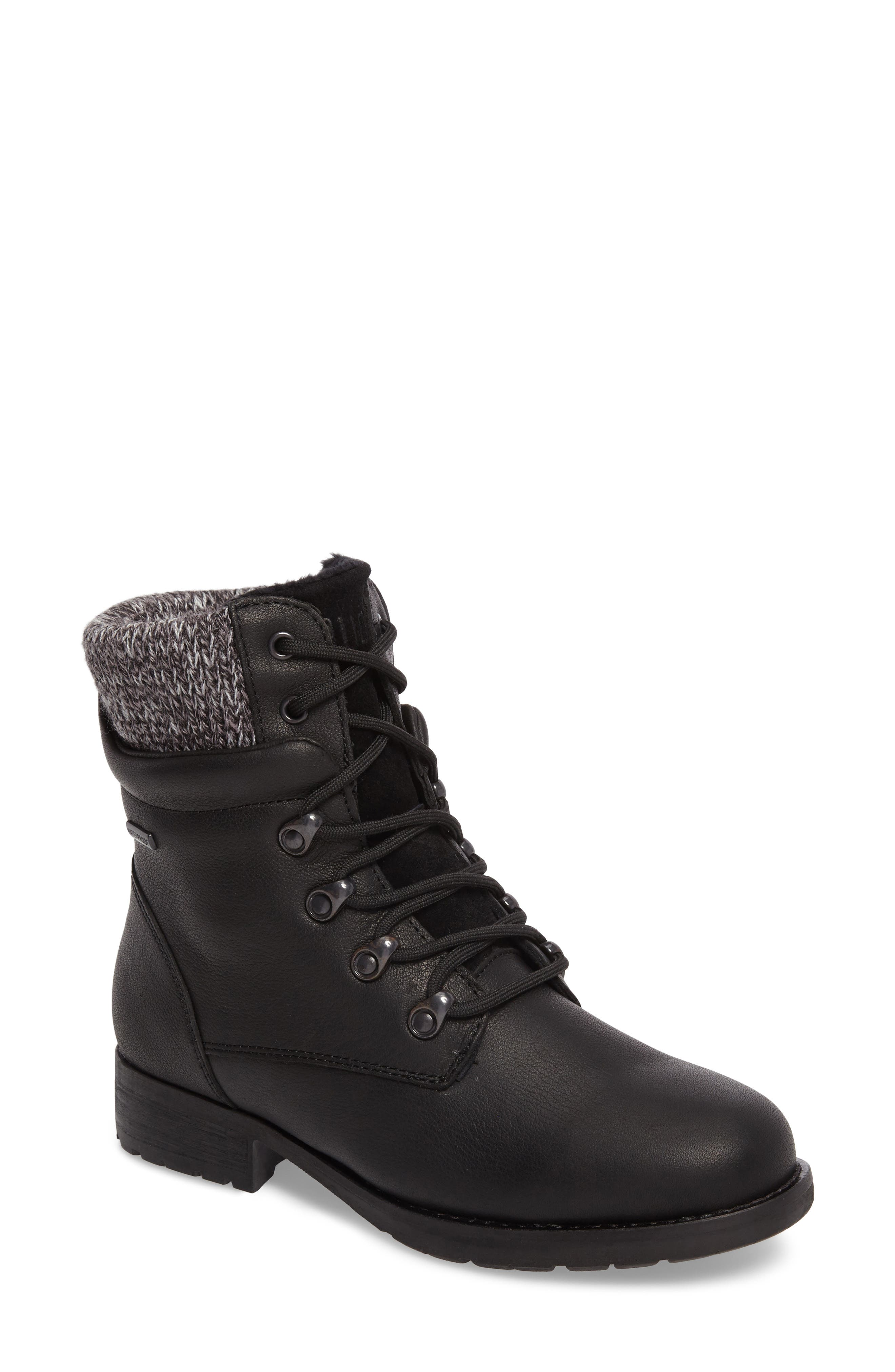 Derry Waterproof Boot,                         Main,                         color, BLACK LEATHER