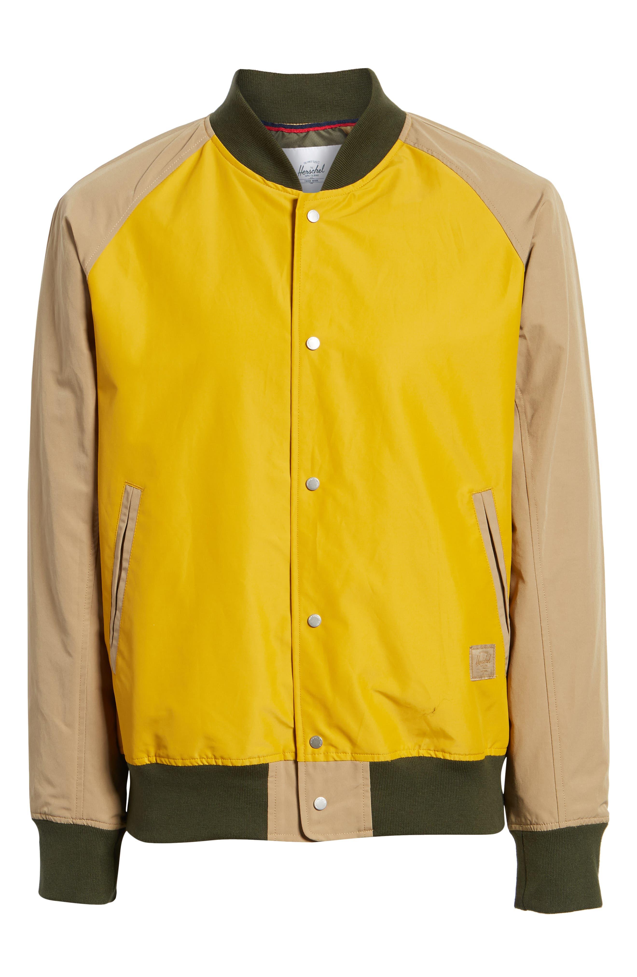 Varsity Jacket,                             Alternate thumbnail 6, color,                             ARROWWOOD/ KHAKI