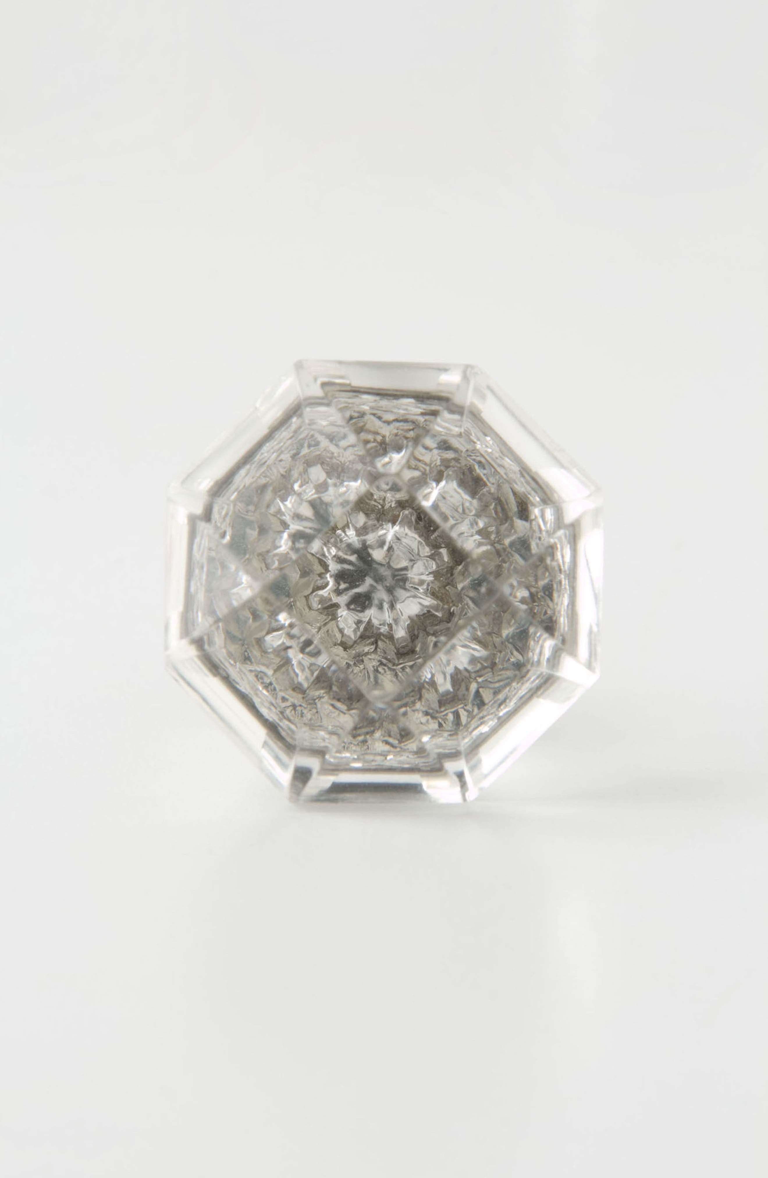 Crystal Octagon Knob,                         Main,                         color, CLEAR