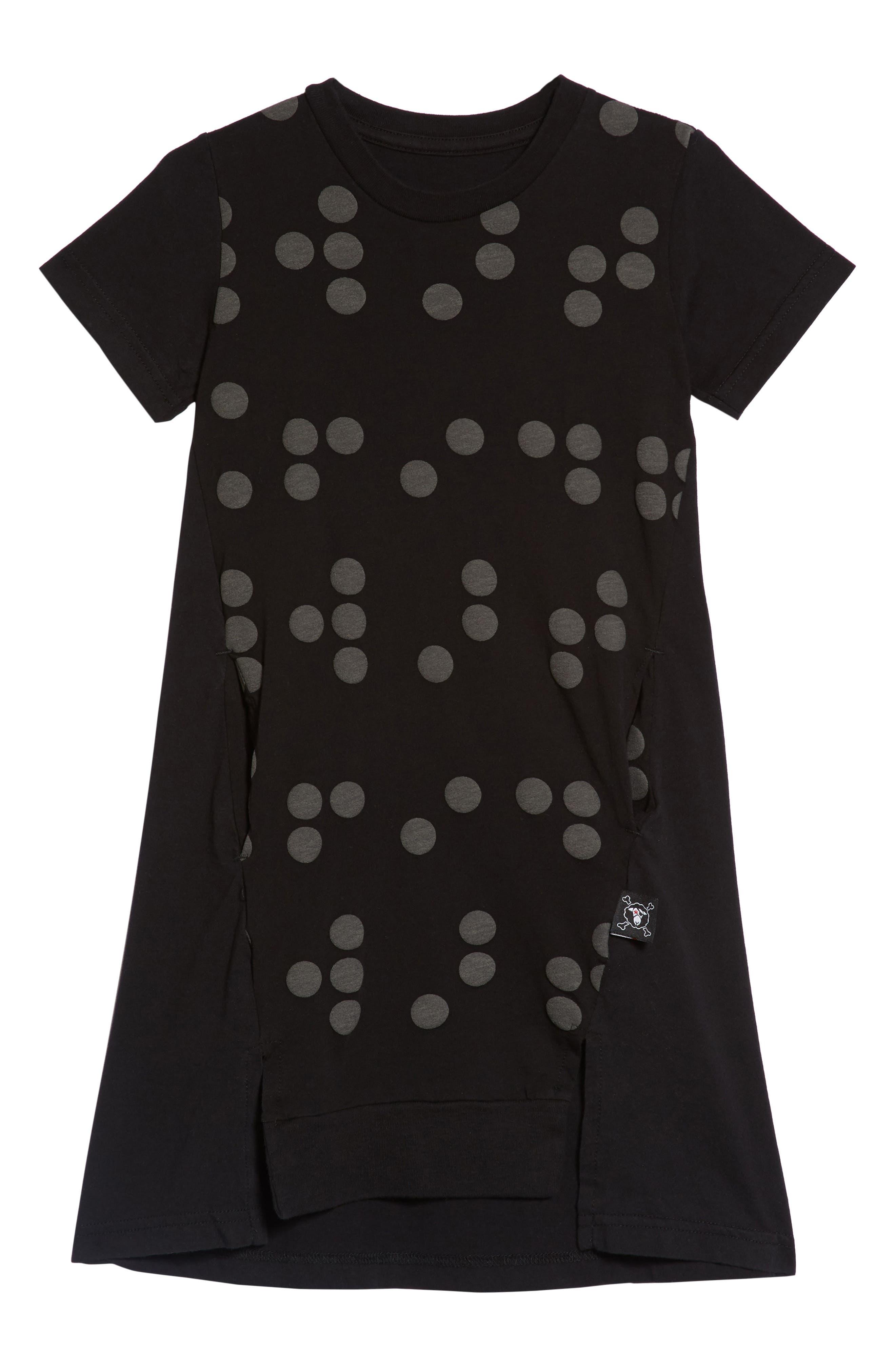 Braille A-Line Dress,                         Main,                         color, 001