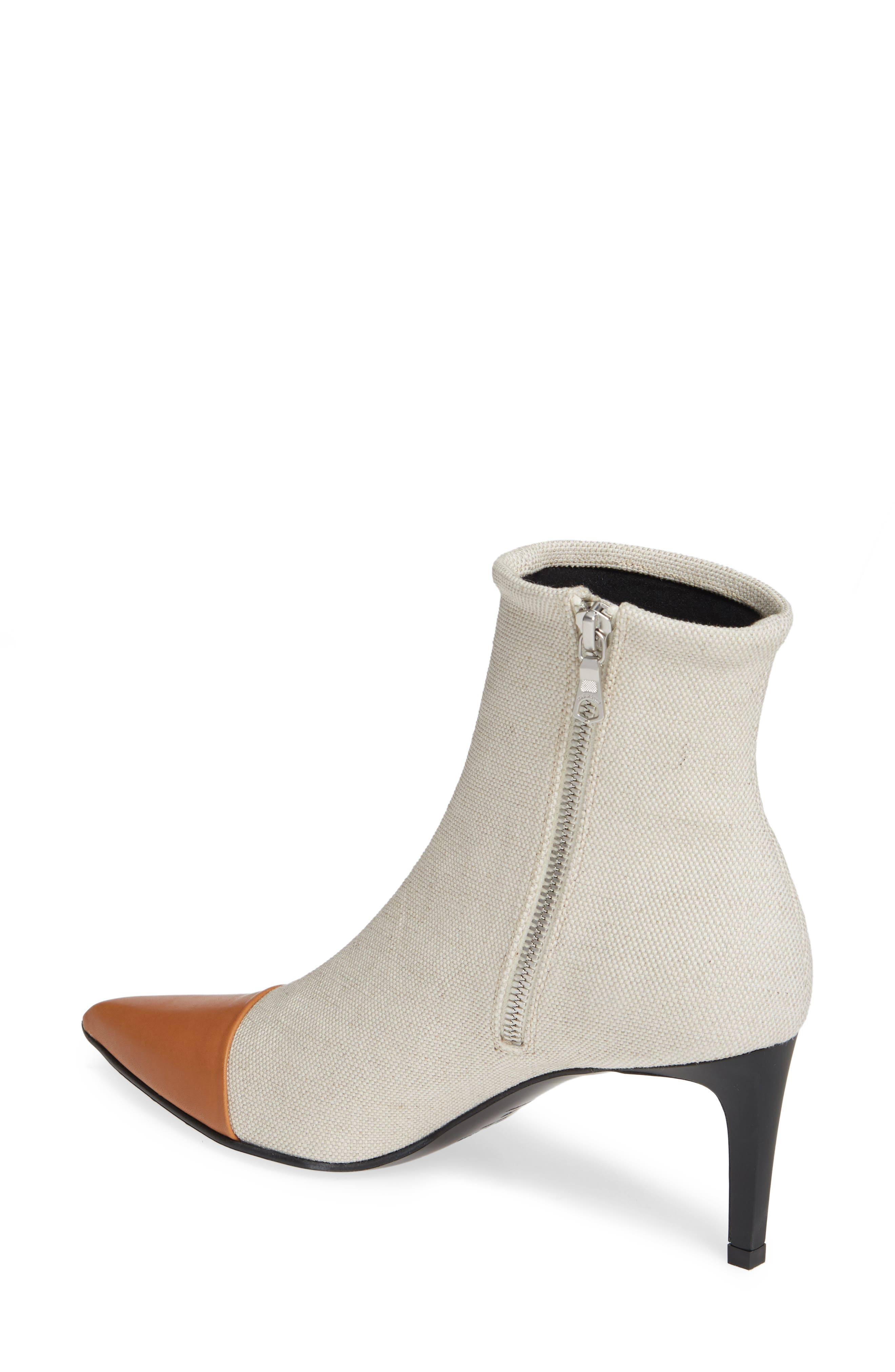 Beha Pointy Toe Bootie,                             Alternate thumbnail 2, color,                             ECRU