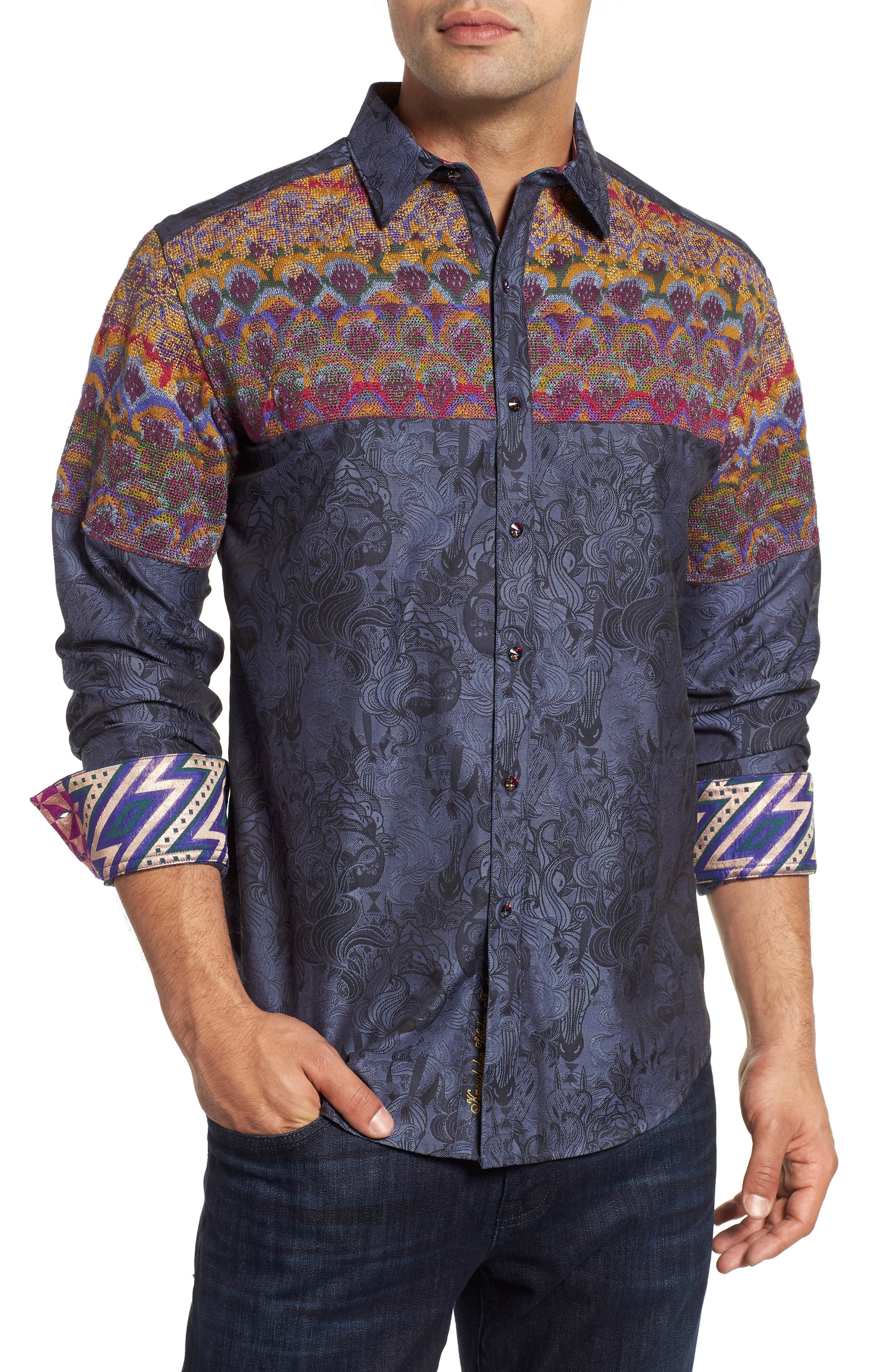Paradise Valley Classic Fit Sport Shirt,                             Main thumbnail 1, color,                             MULTI
