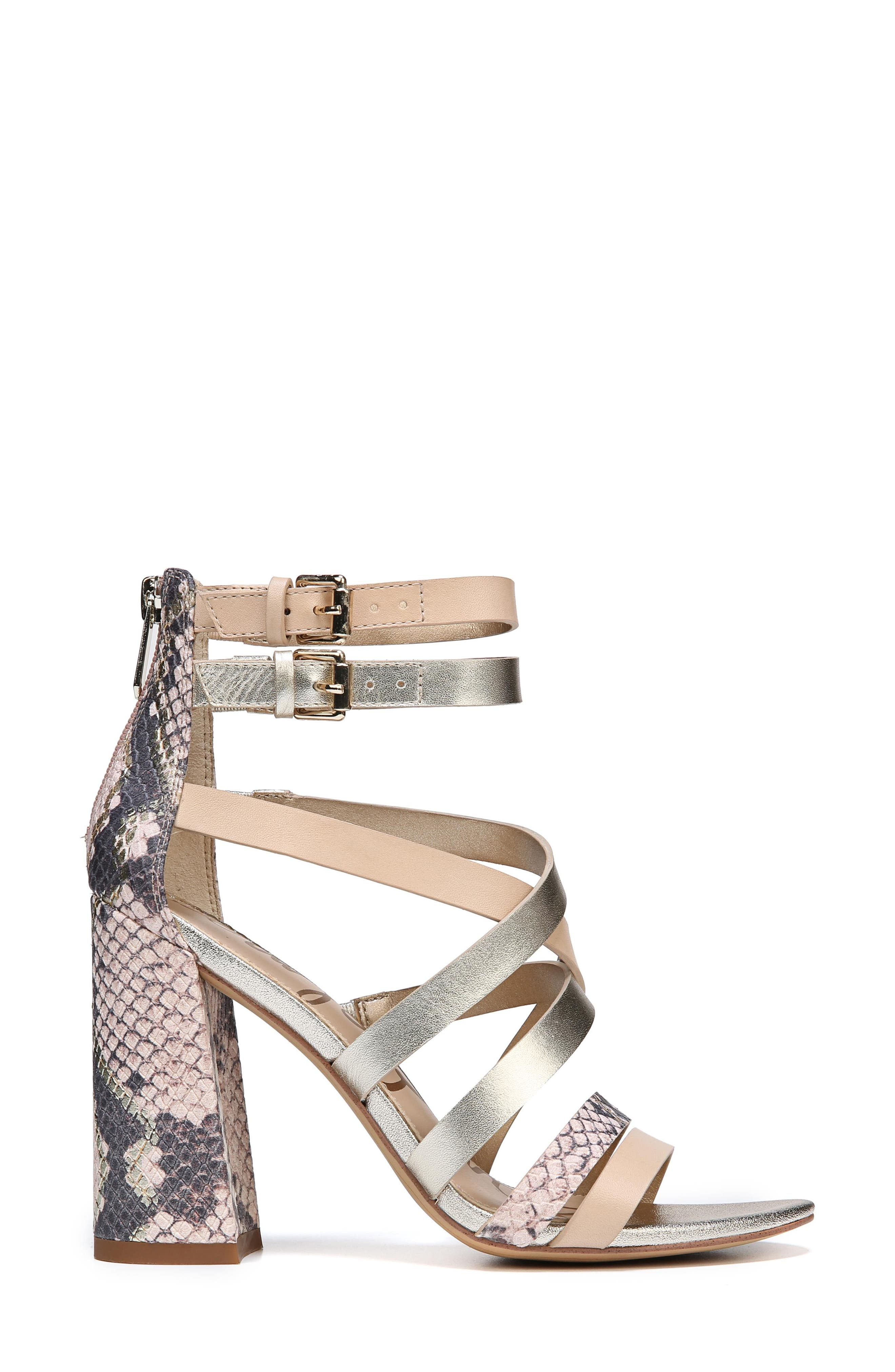 Yema Block Heel Sandal,                             Alternate thumbnail 3, color,                             NATURAL/ PINK/ JUTE