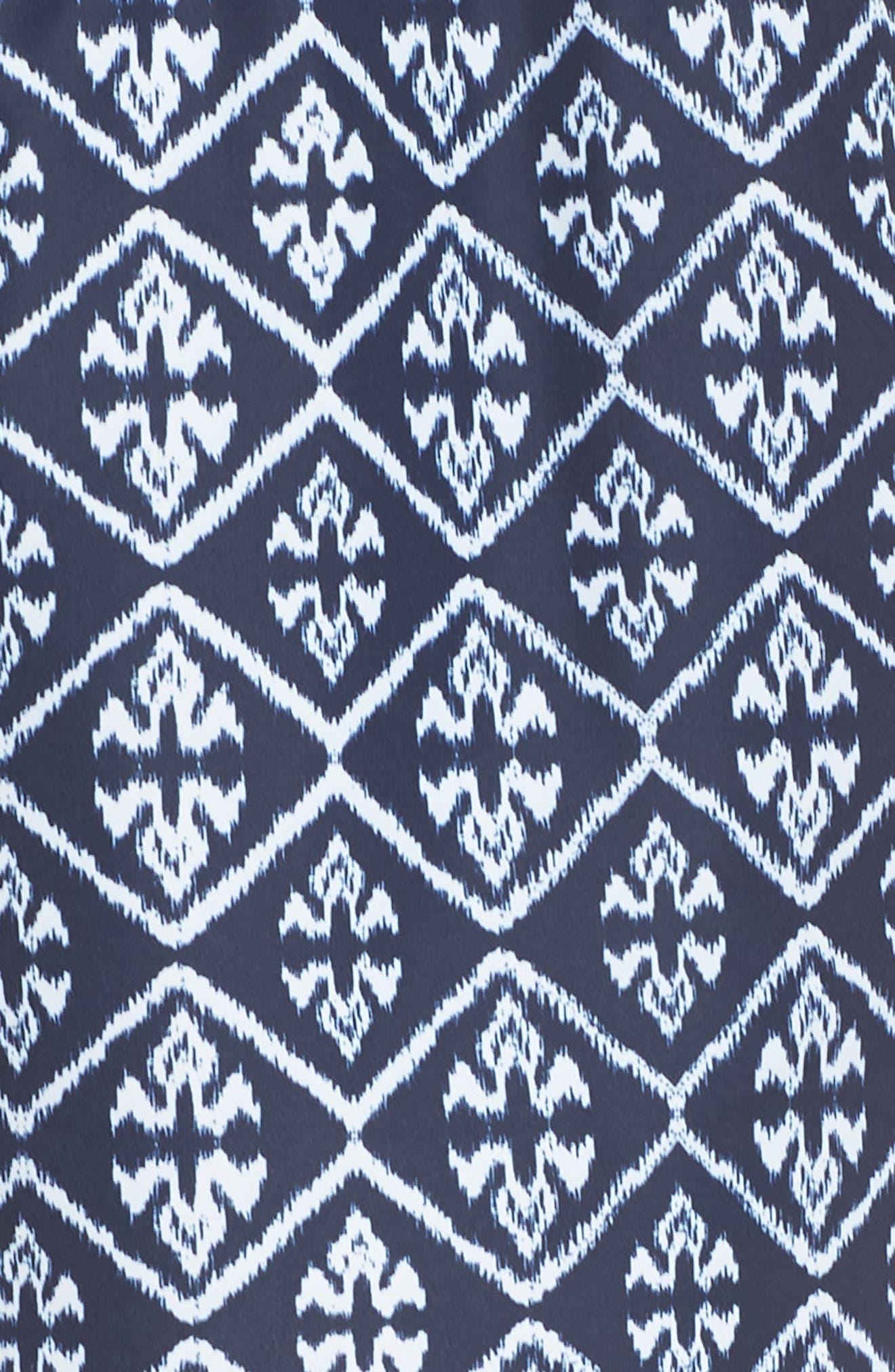 Ikat Neon Running Shorts,                             Alternate thumbnail 6, color,                             INDIGO/ WHITE