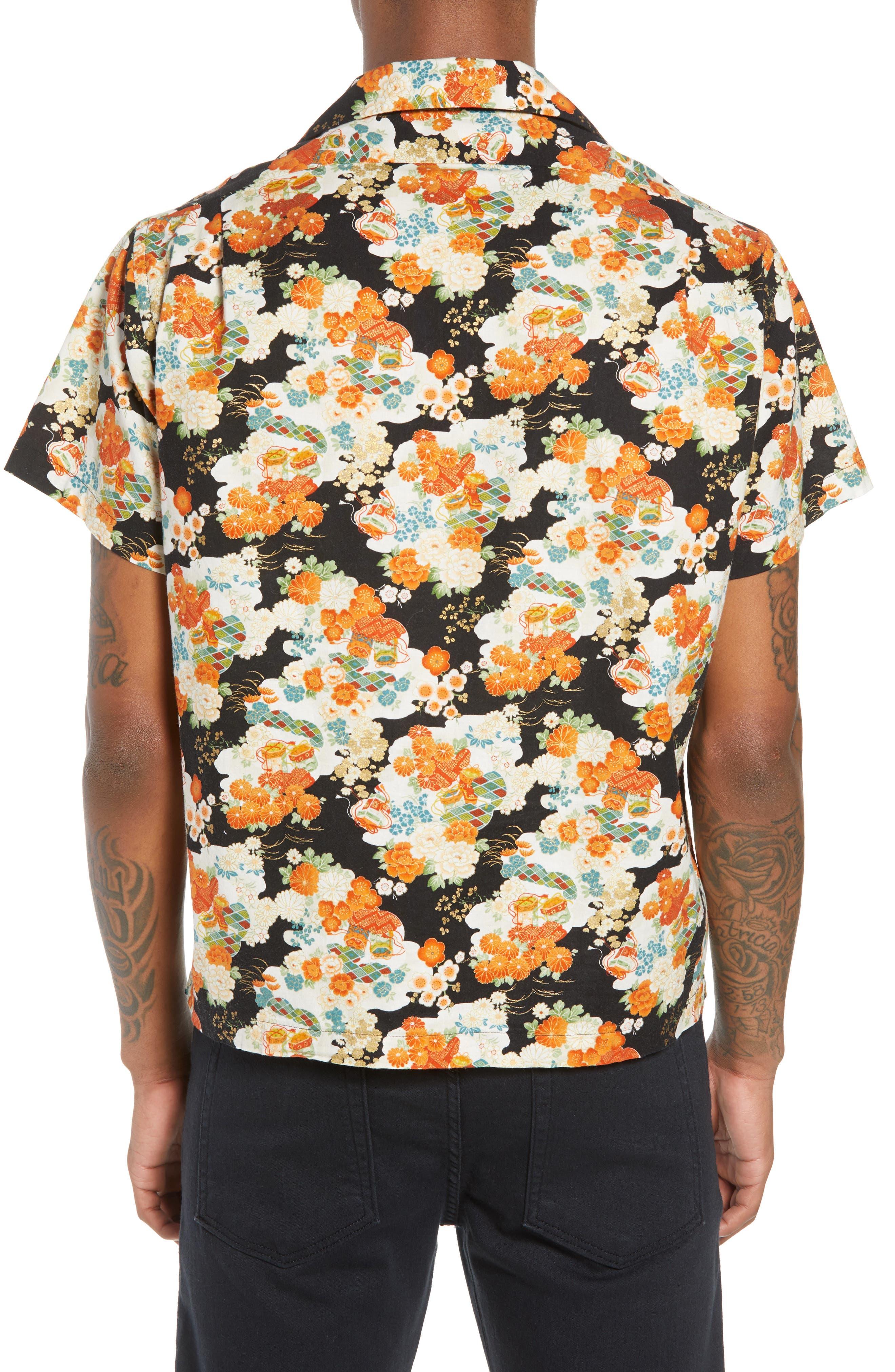 Japanese Aloha Festival Woven Shirt,                             Alternate thumbnail 2, color,                             001