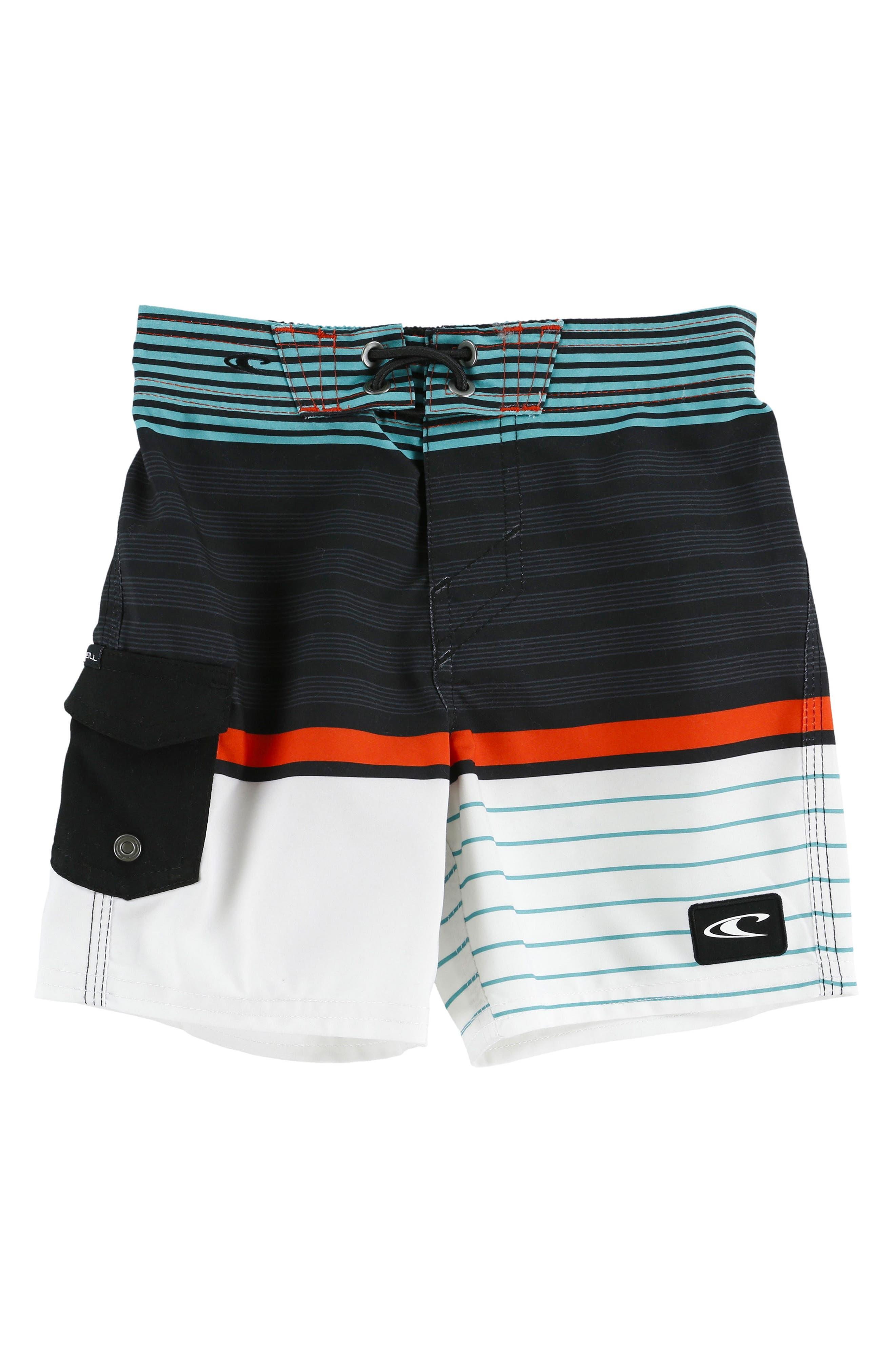 Lennox Stripe Board Shorts,                             Main thumbnail 4, color,