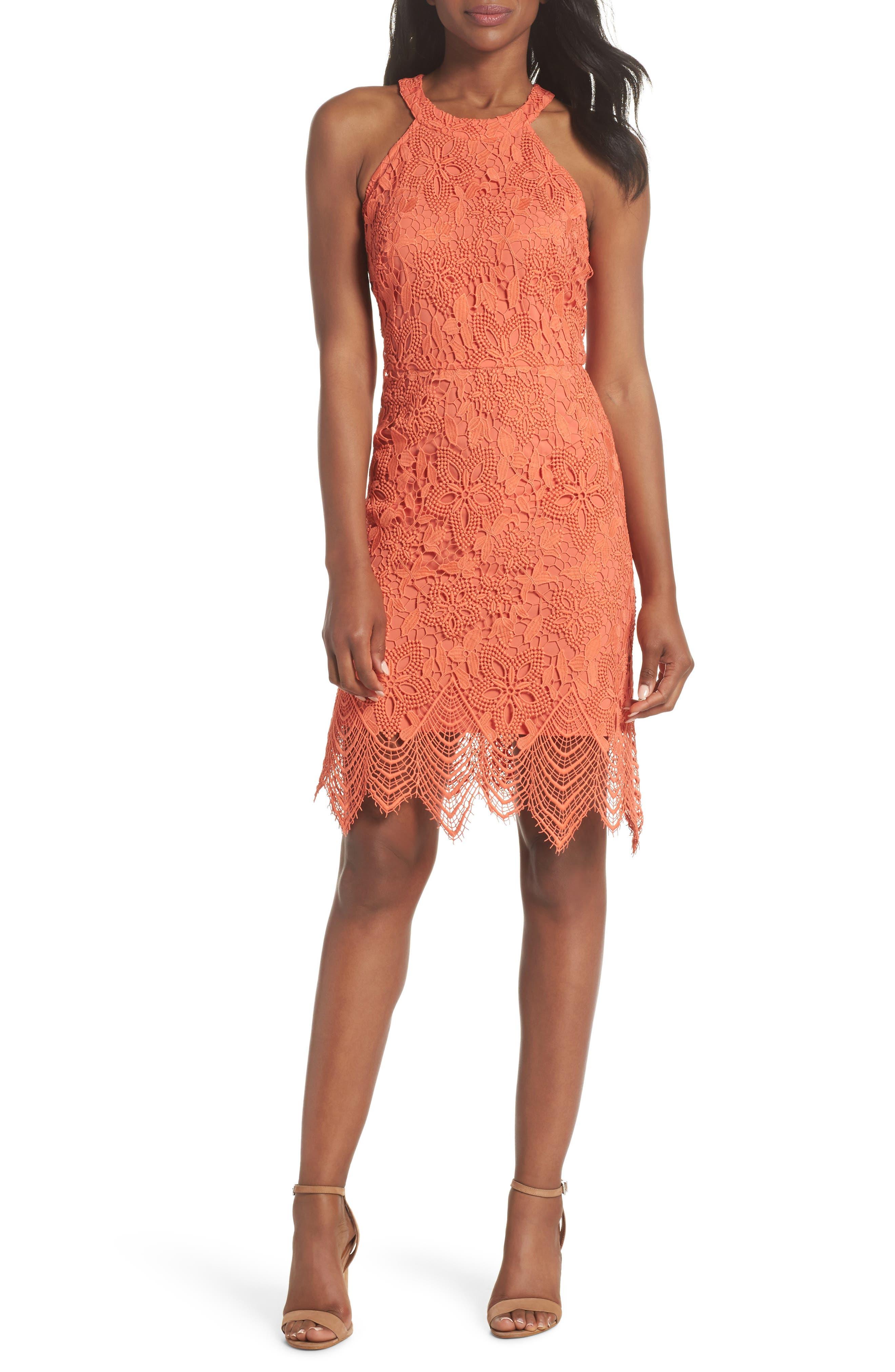 Isla Lace Halter Dress,                             Main thumbnail 2, color,