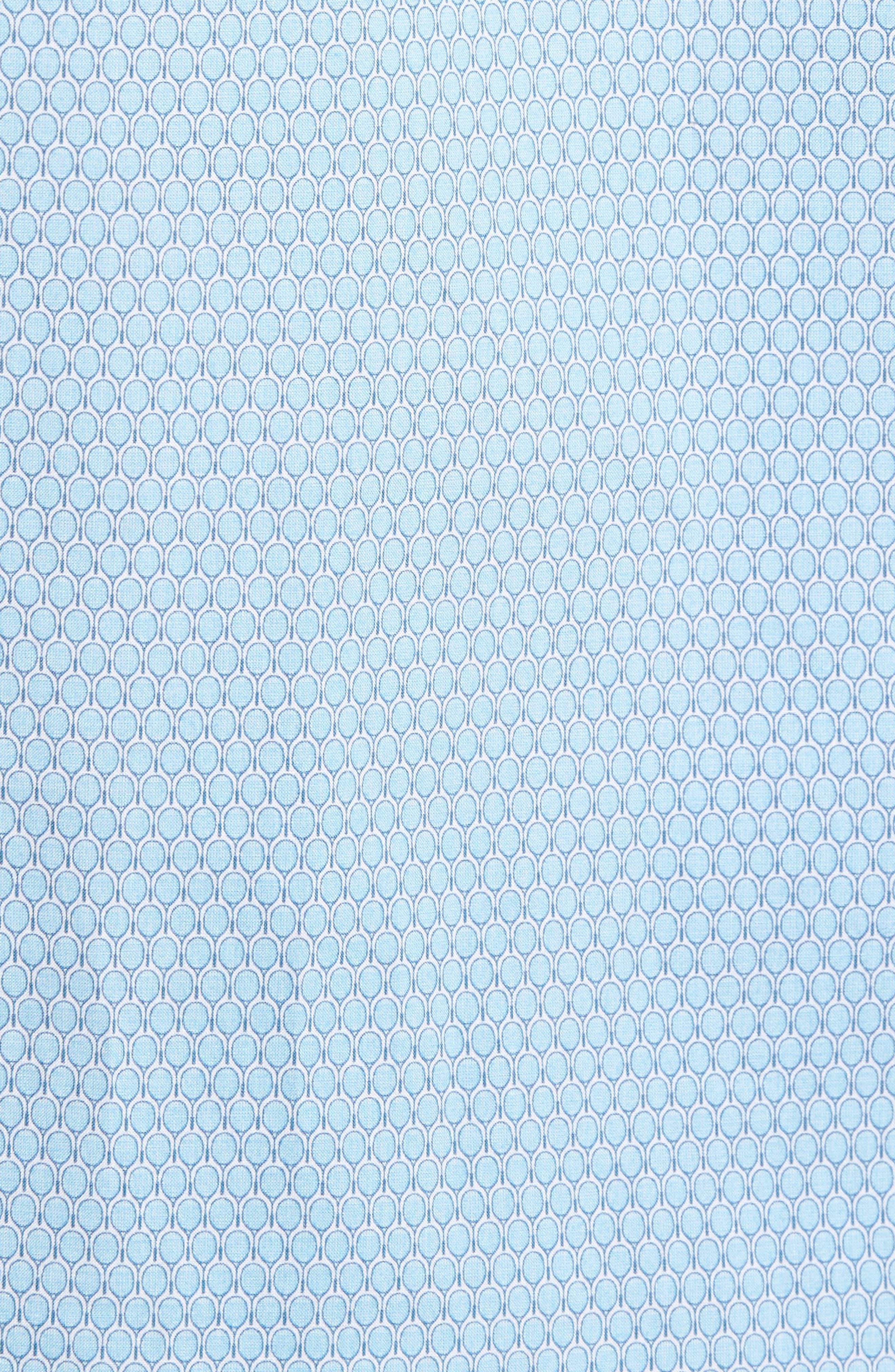 Dakotah Trim Fit Print Sport Shirt,                             Alternate thumbnail 5, color,                             LIGHT BLUE