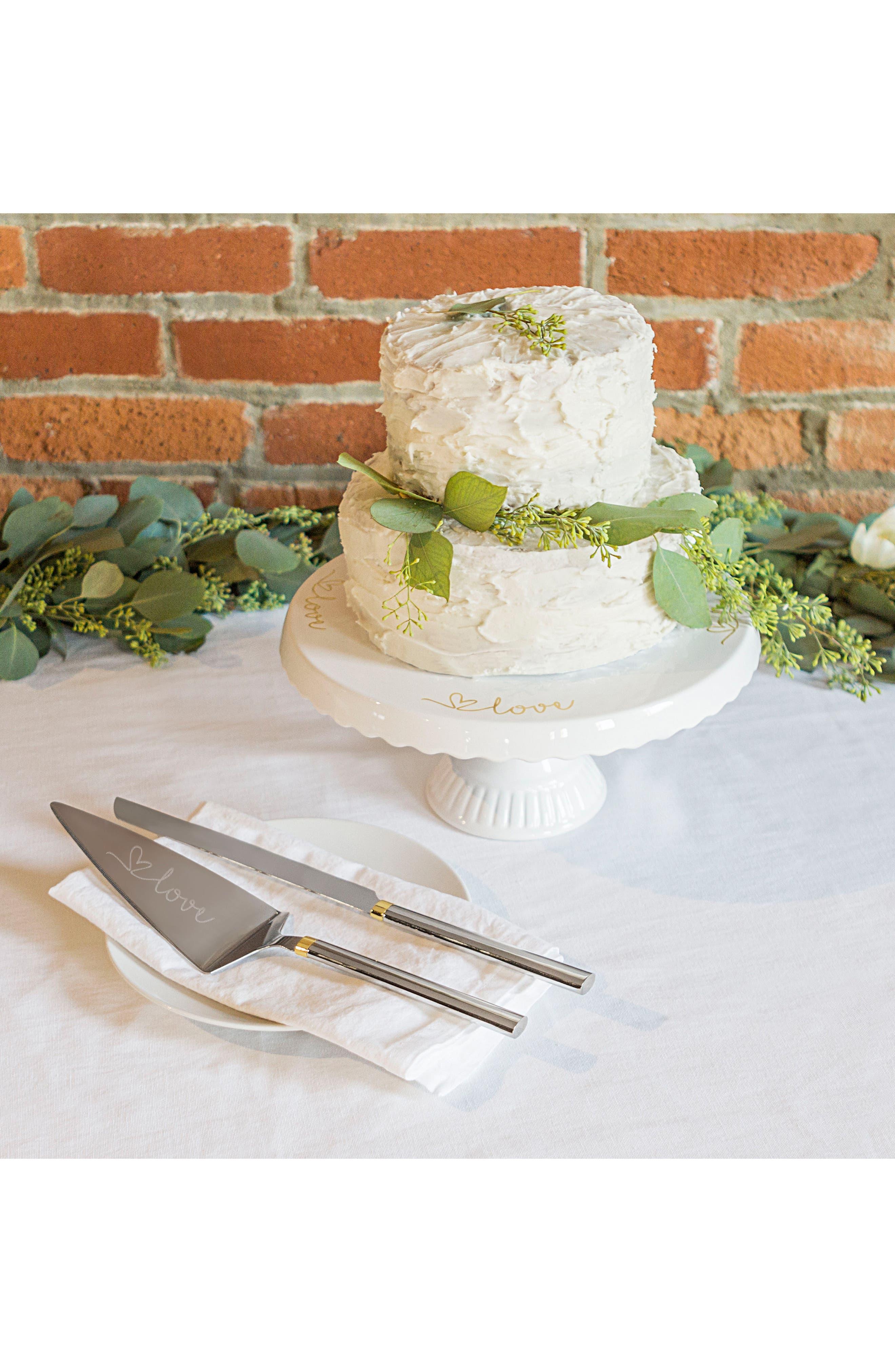 Love Monogram Cake Stand & Server Set,                             Alternate thumbnail 6, color,                             710