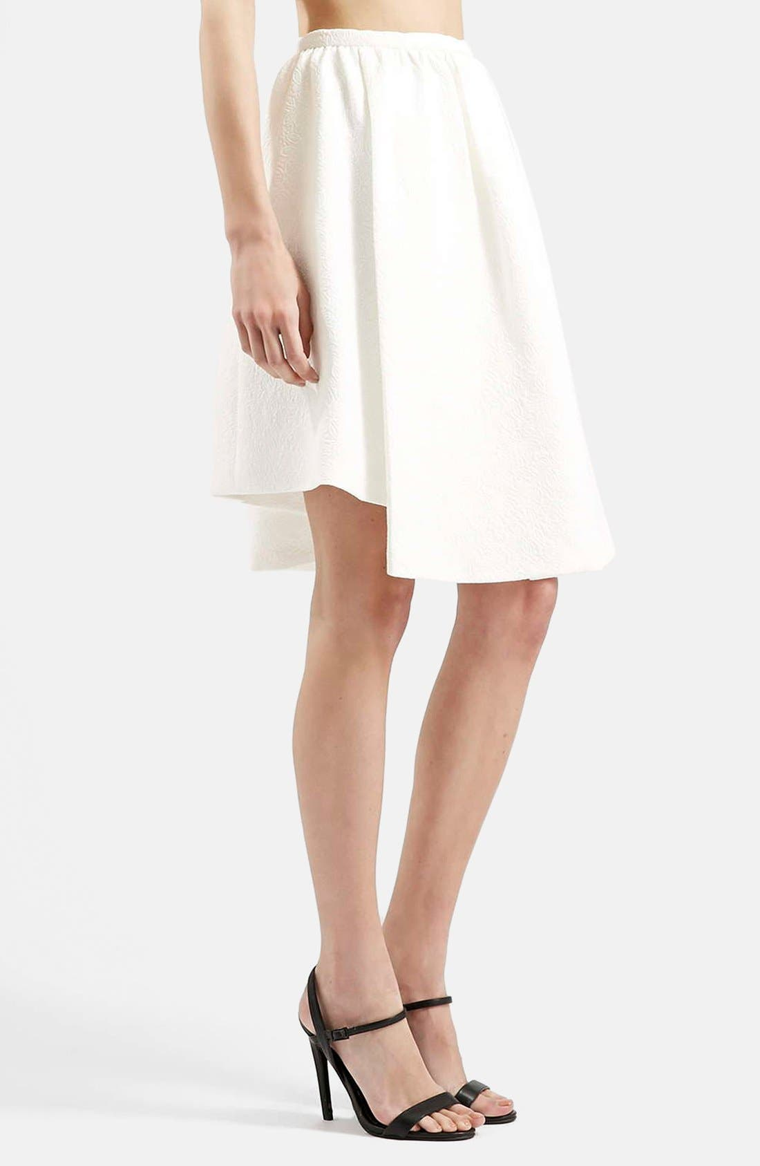 Asymmetrical Midi Skirt,                             Main thumbnail 1, color,                             100